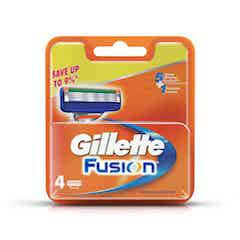 Gillette Fusion Manual Shaving Razor Blades (cartridge) 4 Pieces