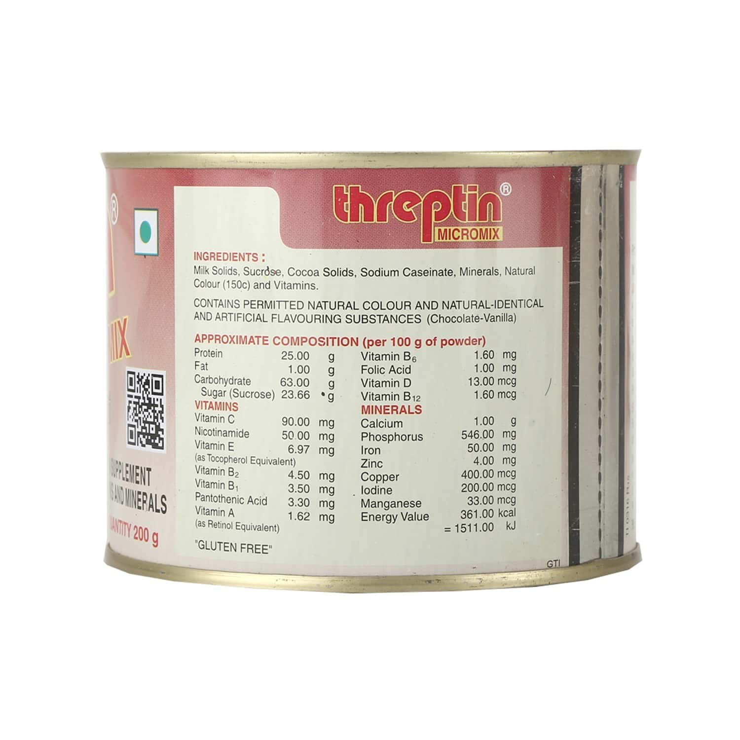 Threptin Micromix Chocolate Nutrition Powder Tin Of 200 G