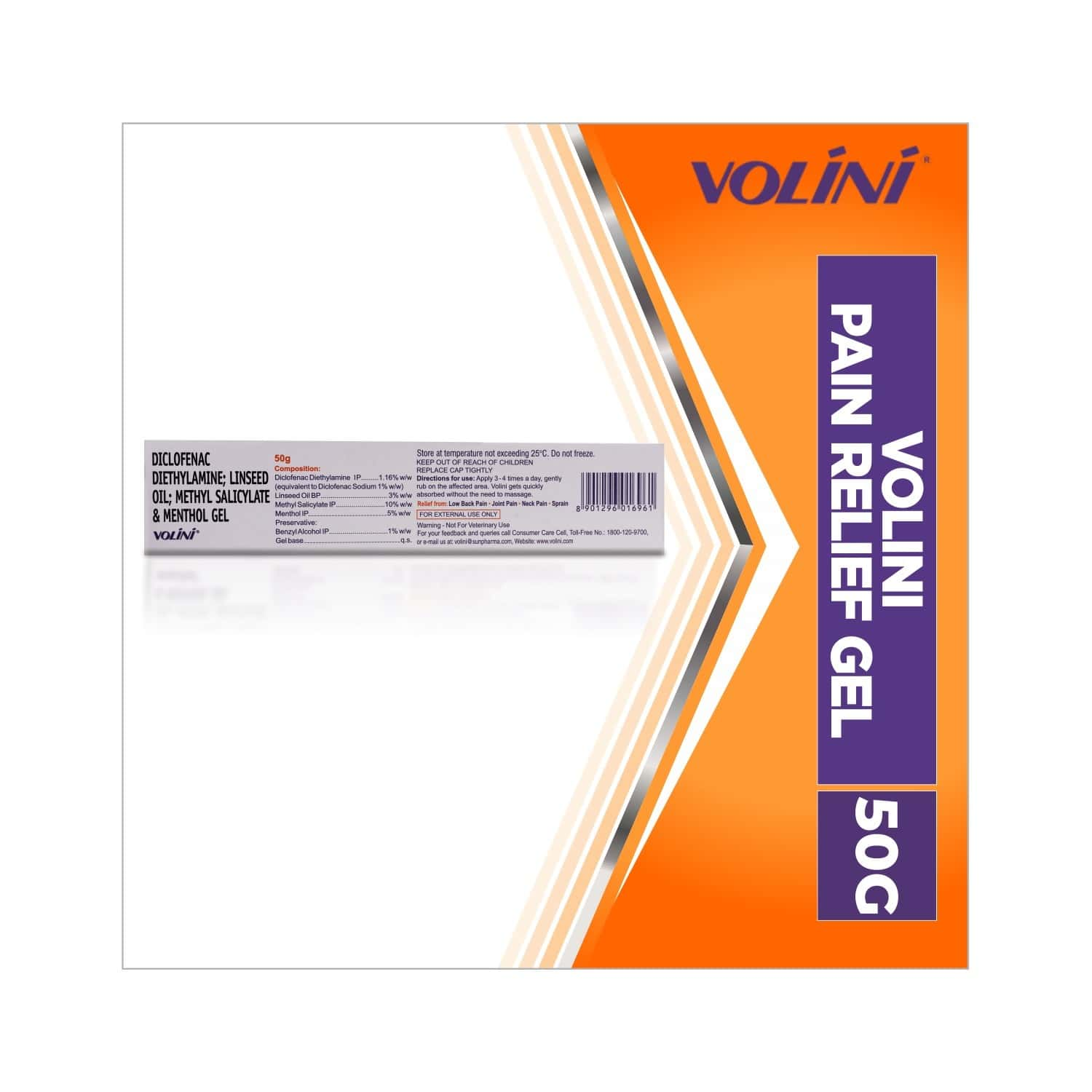 Volini  Pain Relief Gel  Tube Of 50 G