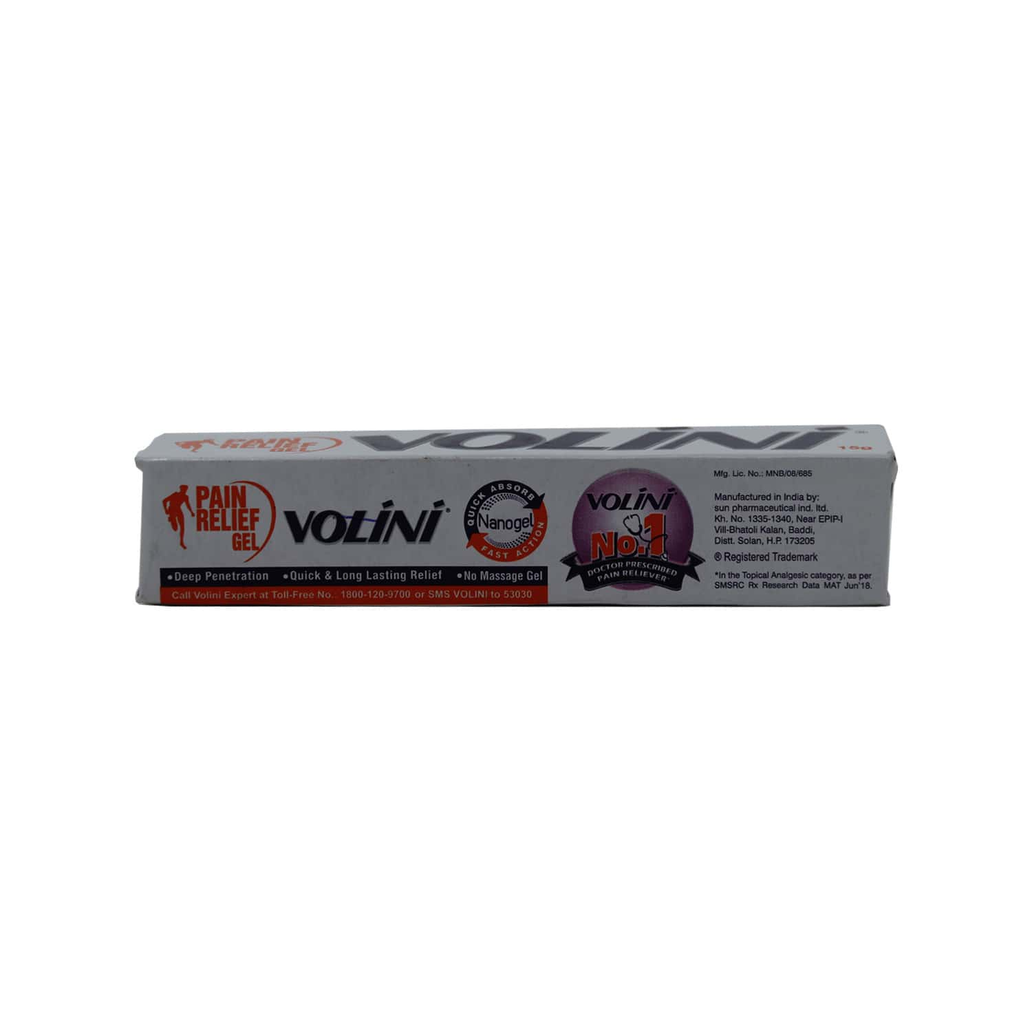 Volini  Pain Relief Gel  Tube Of 15 G