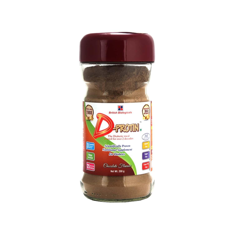 D Protin Chocolate Diabetes Care Powder Bottle Of 200 G