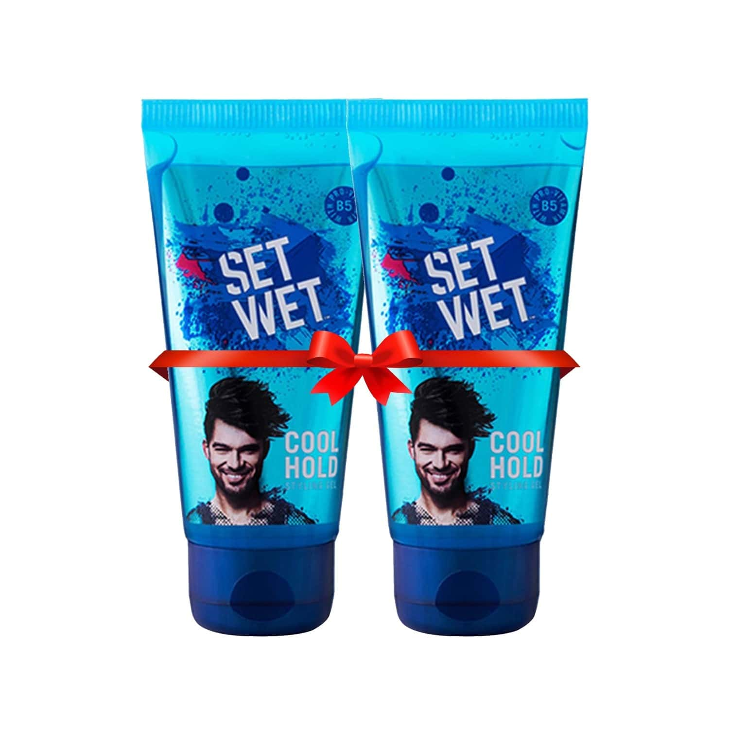 Set Wet Styling Hair Gel Cool Hold Tube - 100 Ml X 2