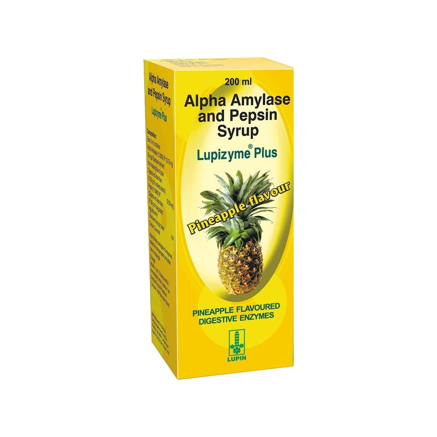Lupizyme Plus Pineapple Digiestion Syrup Bottle Of 200 Ml