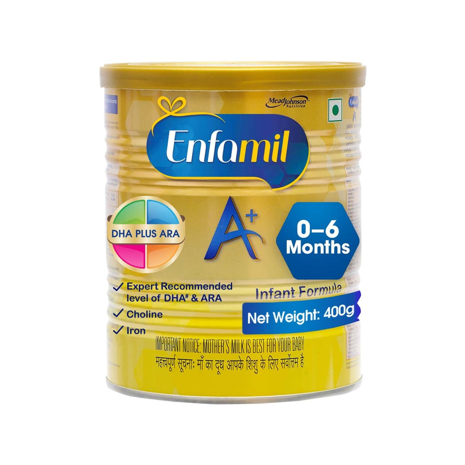 Enfamil A+ Baby Food Stage 1 Infant Formula (0 To 6 Months) Tin Of 400 G