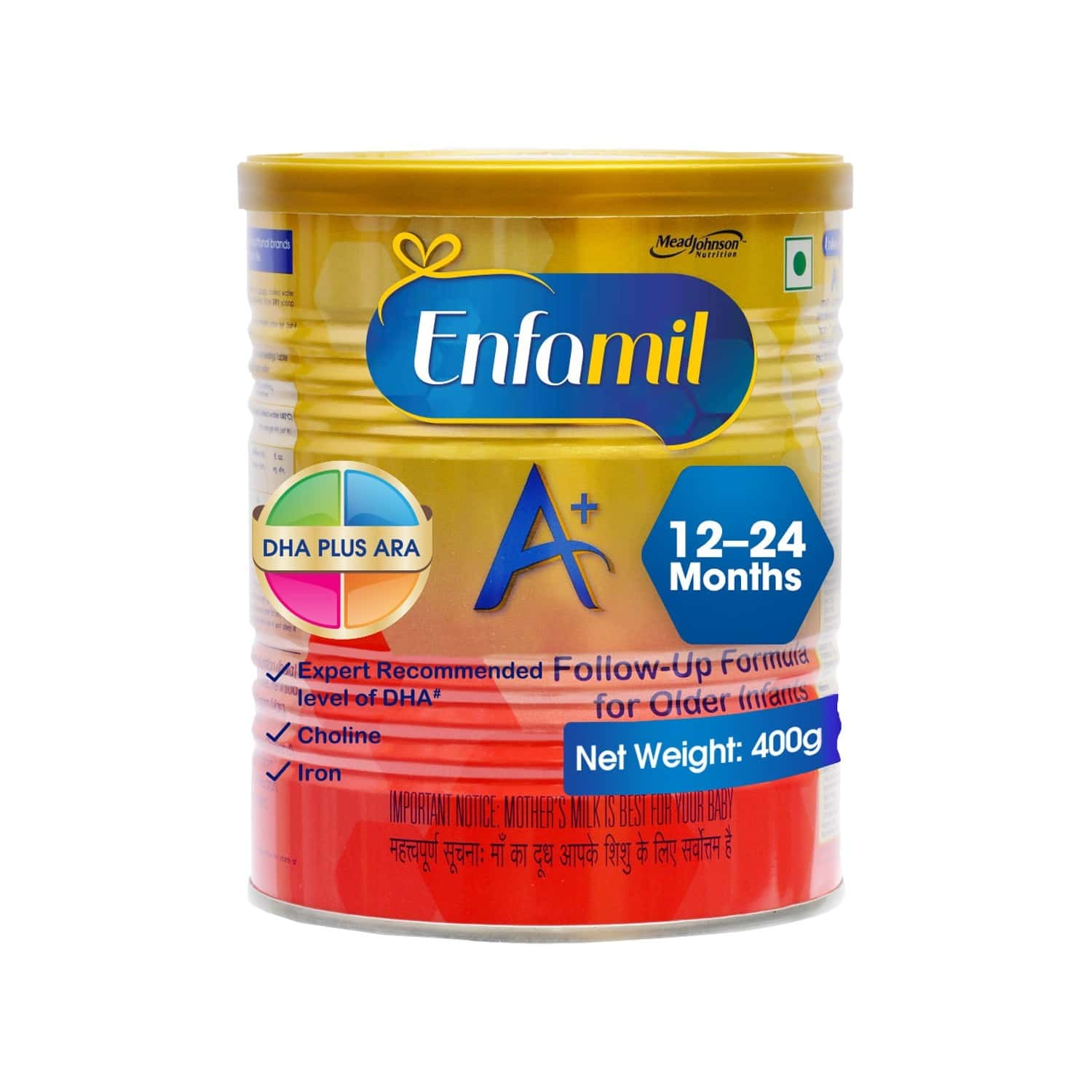 Enfamil A+ Baby Food Stage 3 Infant Follow-up Formula (12 To 24 Months) Tin Of 400 G
