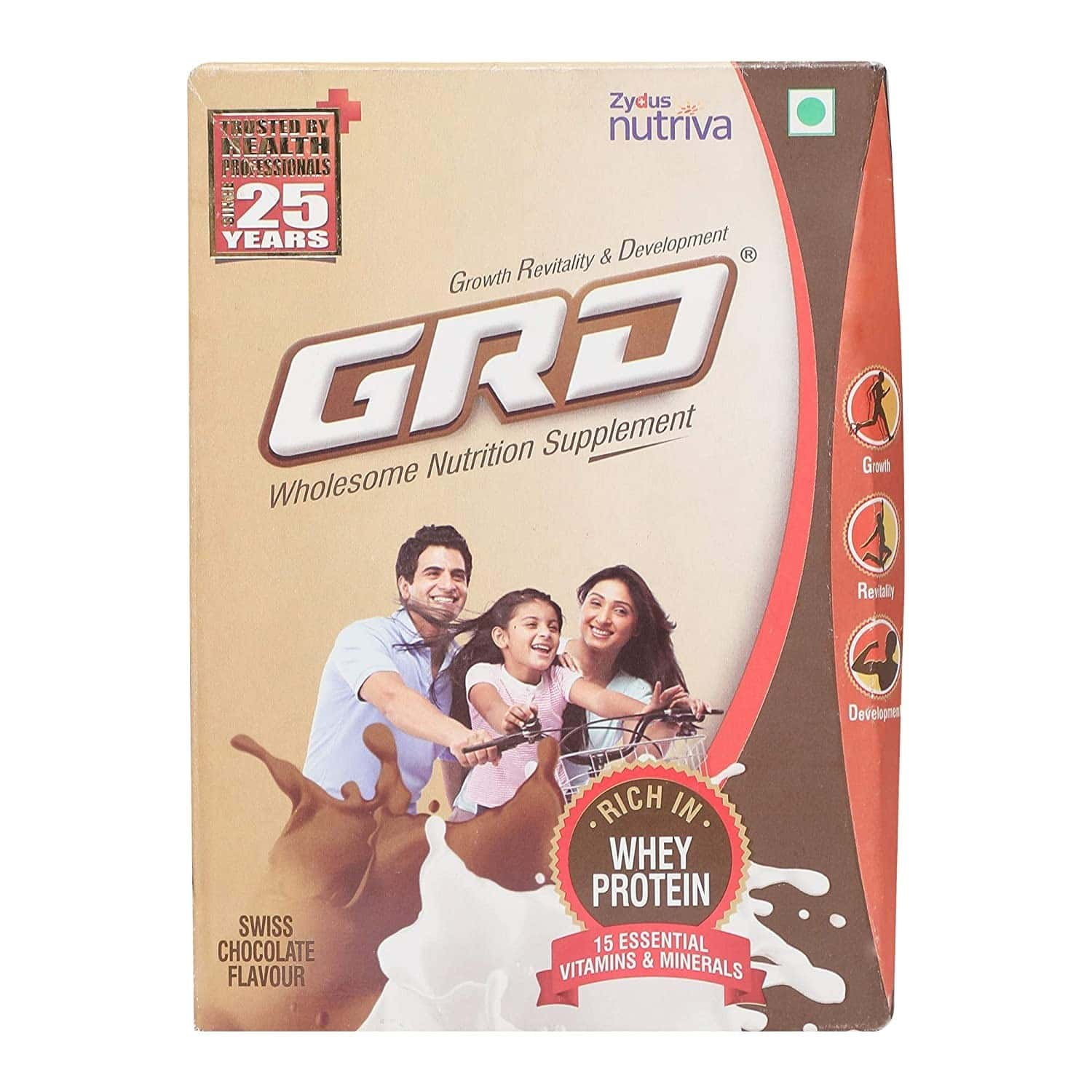 Grd Chocolate Whey Protein Refill Of 400 G