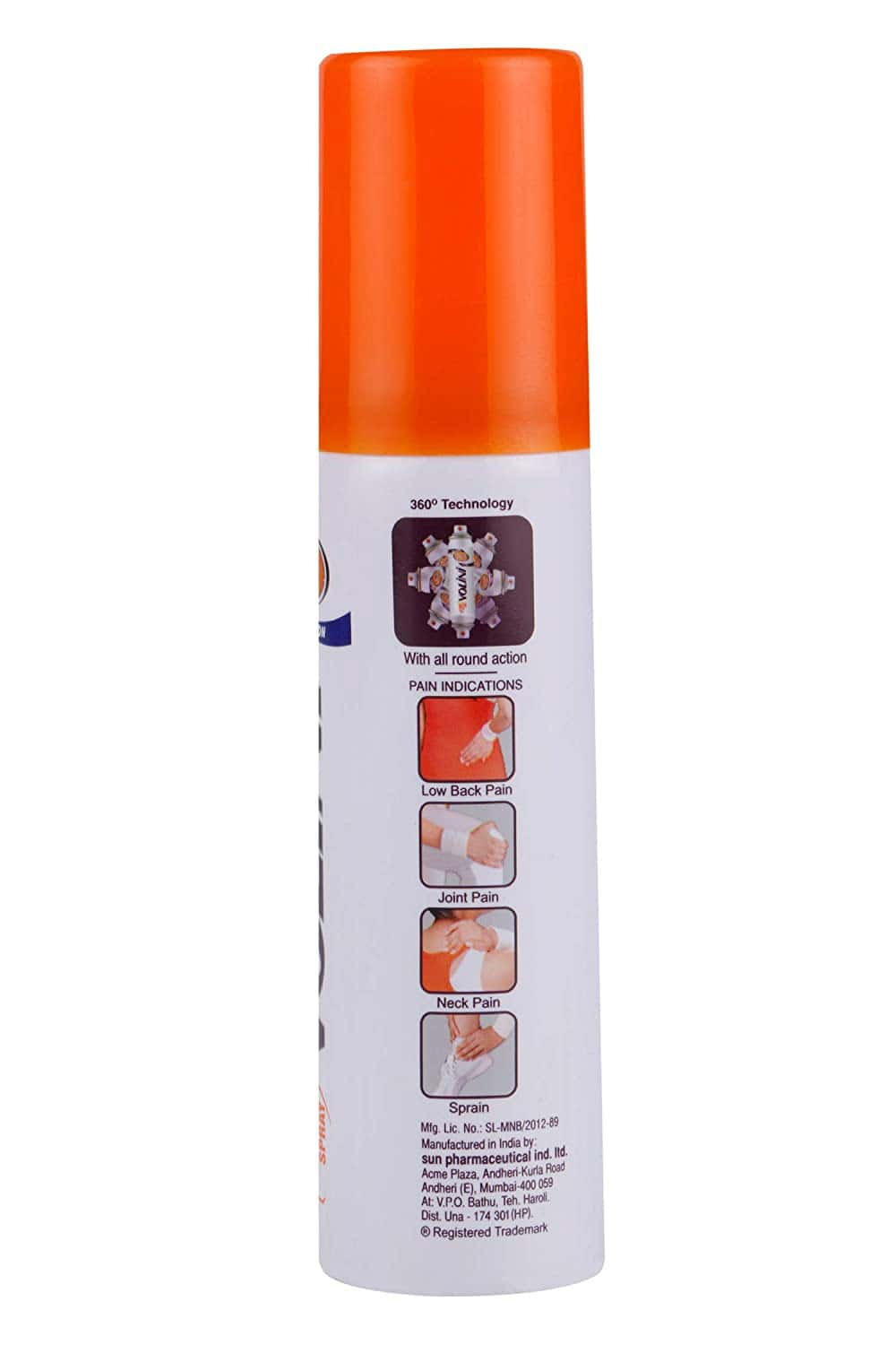 Volini All Round 360  Action Spray  Bottle Of 60 G