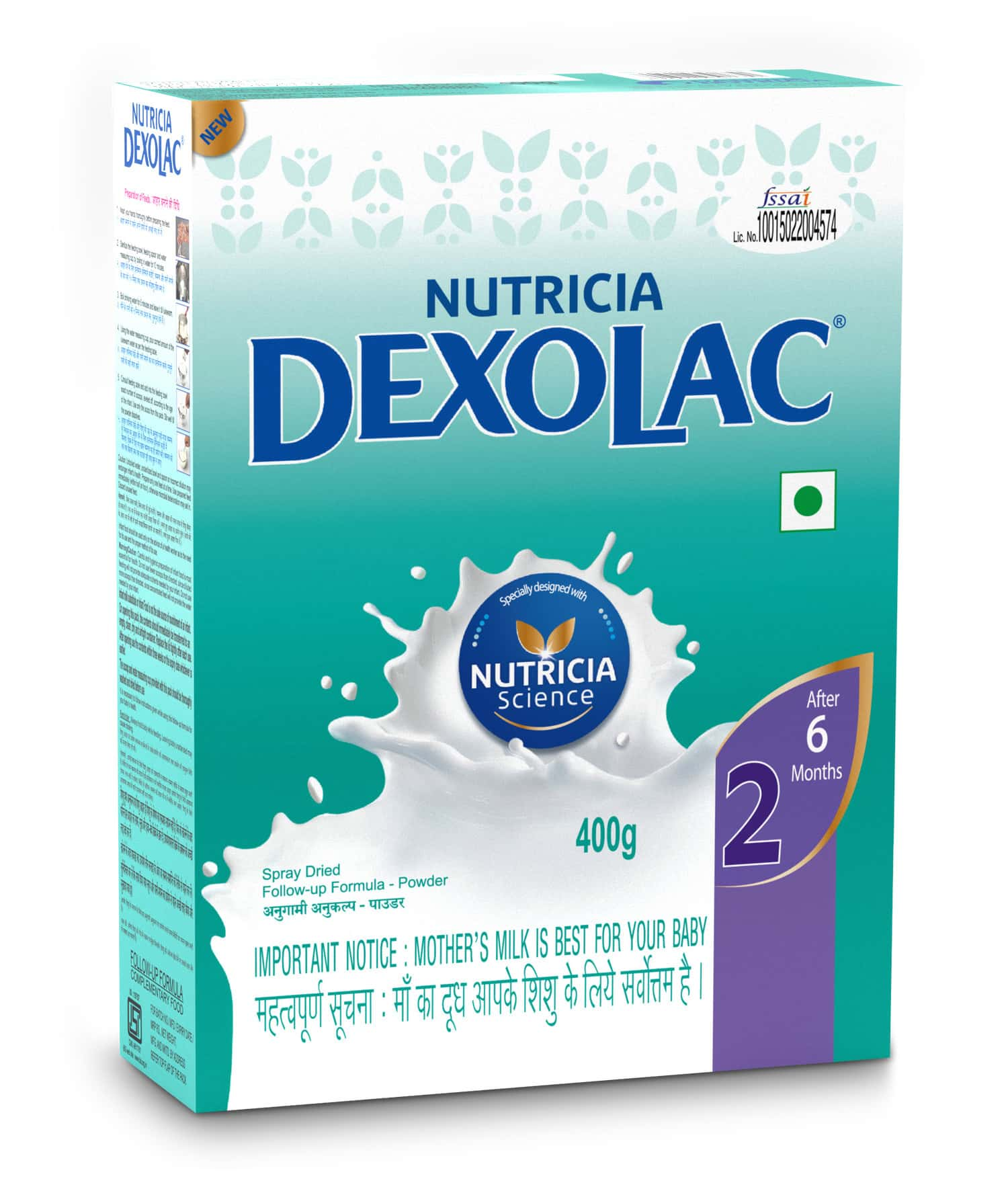 Dexolac Baby Food Stage 2 (after 6 Months) Box Of 400 G