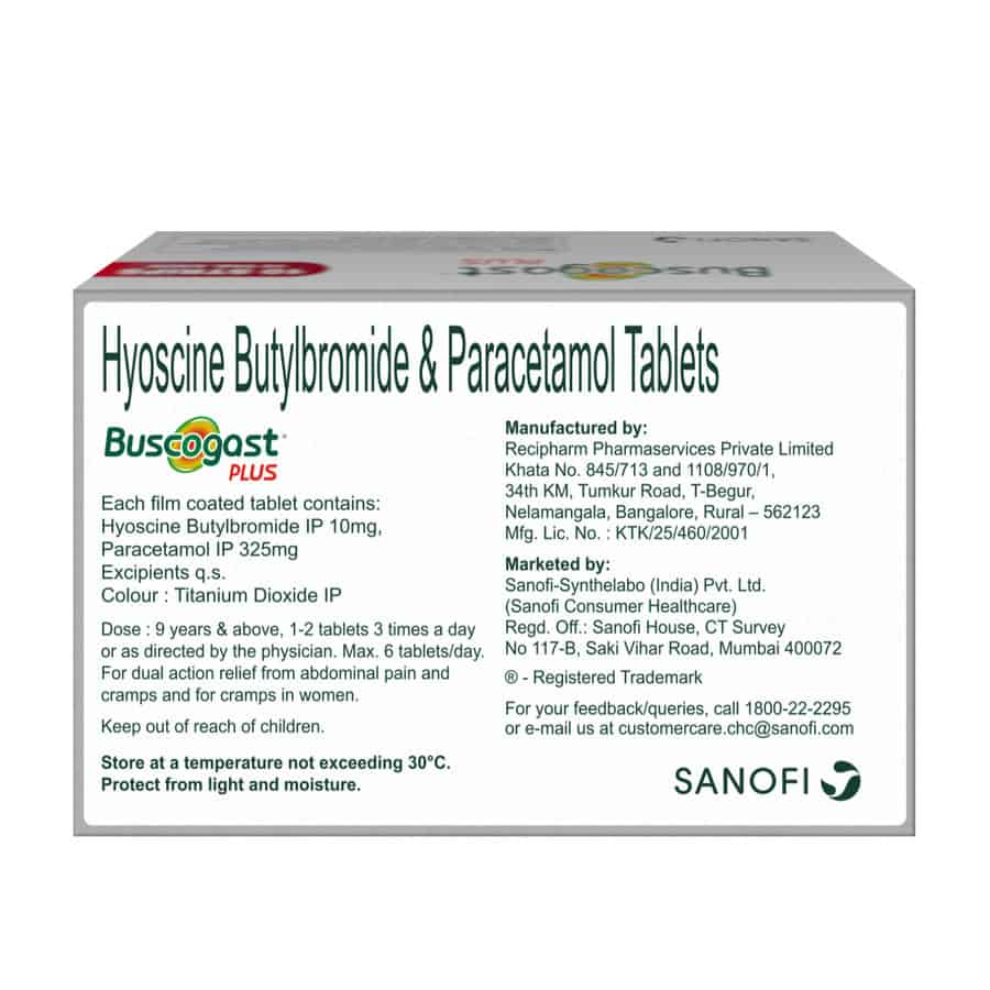 Buscogast Plus Strip Of 10 Tablets