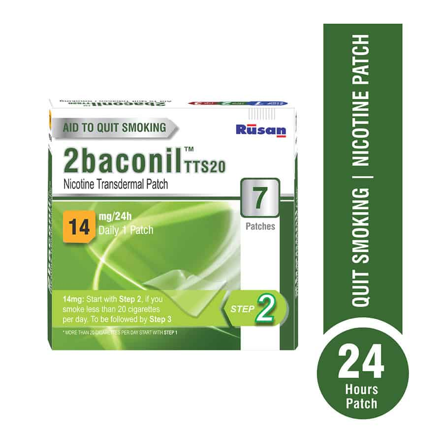 2baconil - 14mg Nicotine Patch For Quit Smoking/tobacco - Step 2