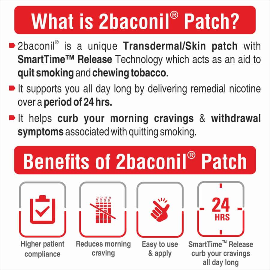 2baconil - 21mg Nicotine Patch For Quit Smoking/tobacco - Step 1
