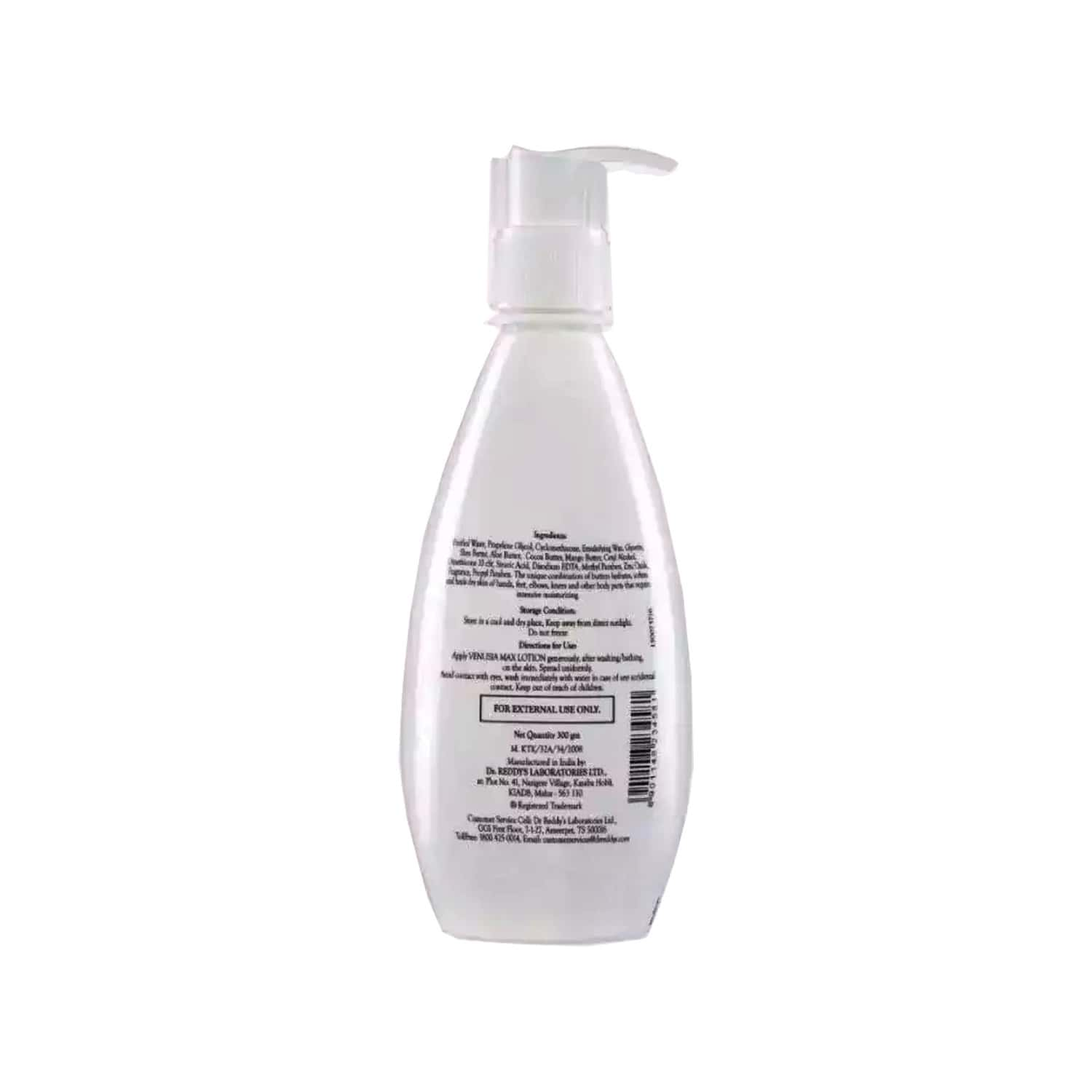 Venusia Max Intensive  Moisturizing Lotion For All Skin Types Bottle Of 300 G