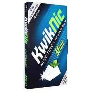 Kwiknic 2mg Mint Flavour Sugar Free Strip Of 10 Chewing Gum