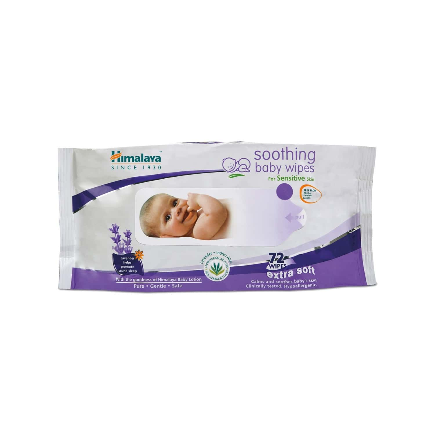 Himalaya Soothing Baby Wipes 72's