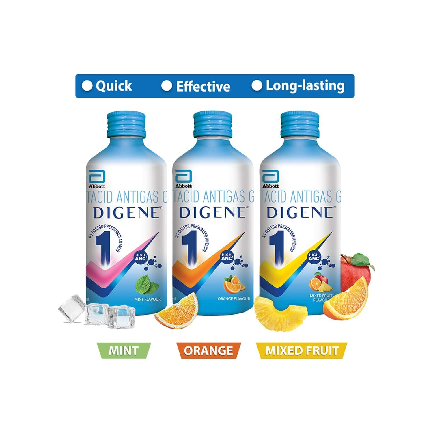 Digene Gel Acidity & Gas Relief - 450ml Mint Flavour