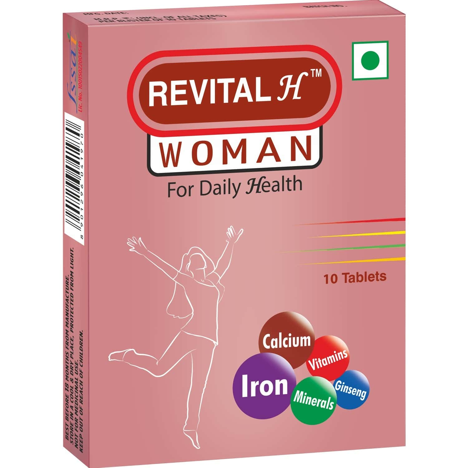 Revital H Woman Health Supplement Tablets Strip Of 10