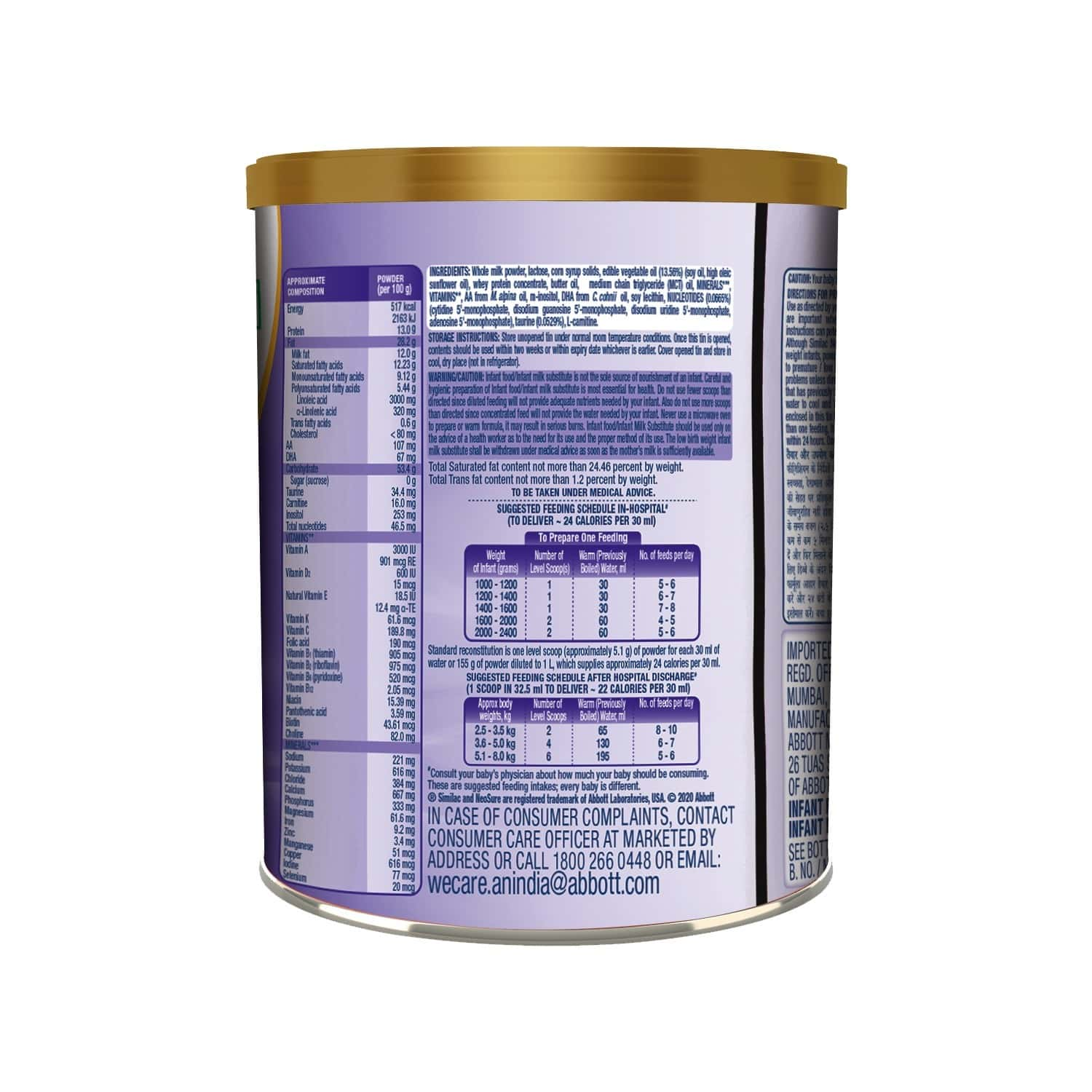 Similac Neosure With Dha Baby Food (up To 12 Months) Tin Of 400 G