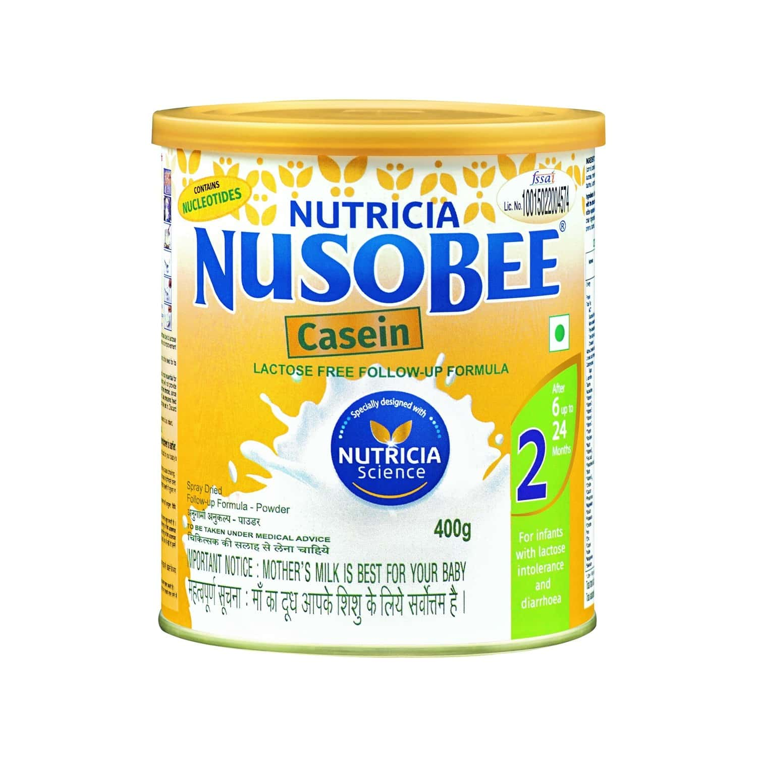 Nusobee Casein Baby Food Stage 2 Followup Formula Tin Of 400 G
