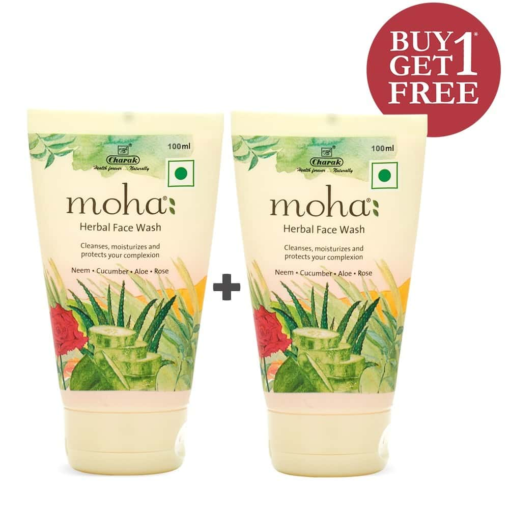 Moha Herbal  Face Wash (buy1 Get1 Free) Tube Of 200 Ml
