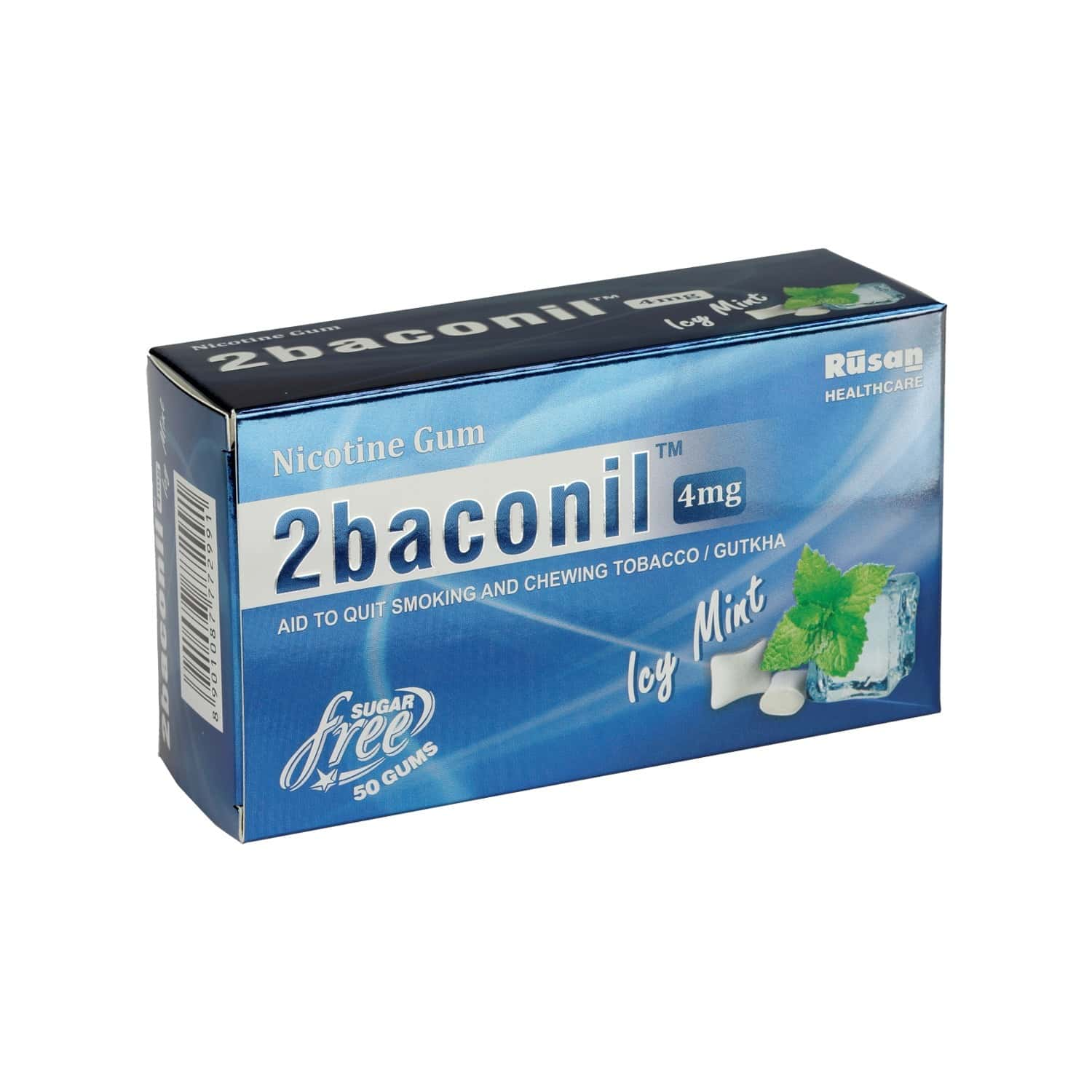 2baconil 4 Mg Nicotine Gum For Quit Smoking / Tobacco (for More Than 20 Cigarette/day Smoker)