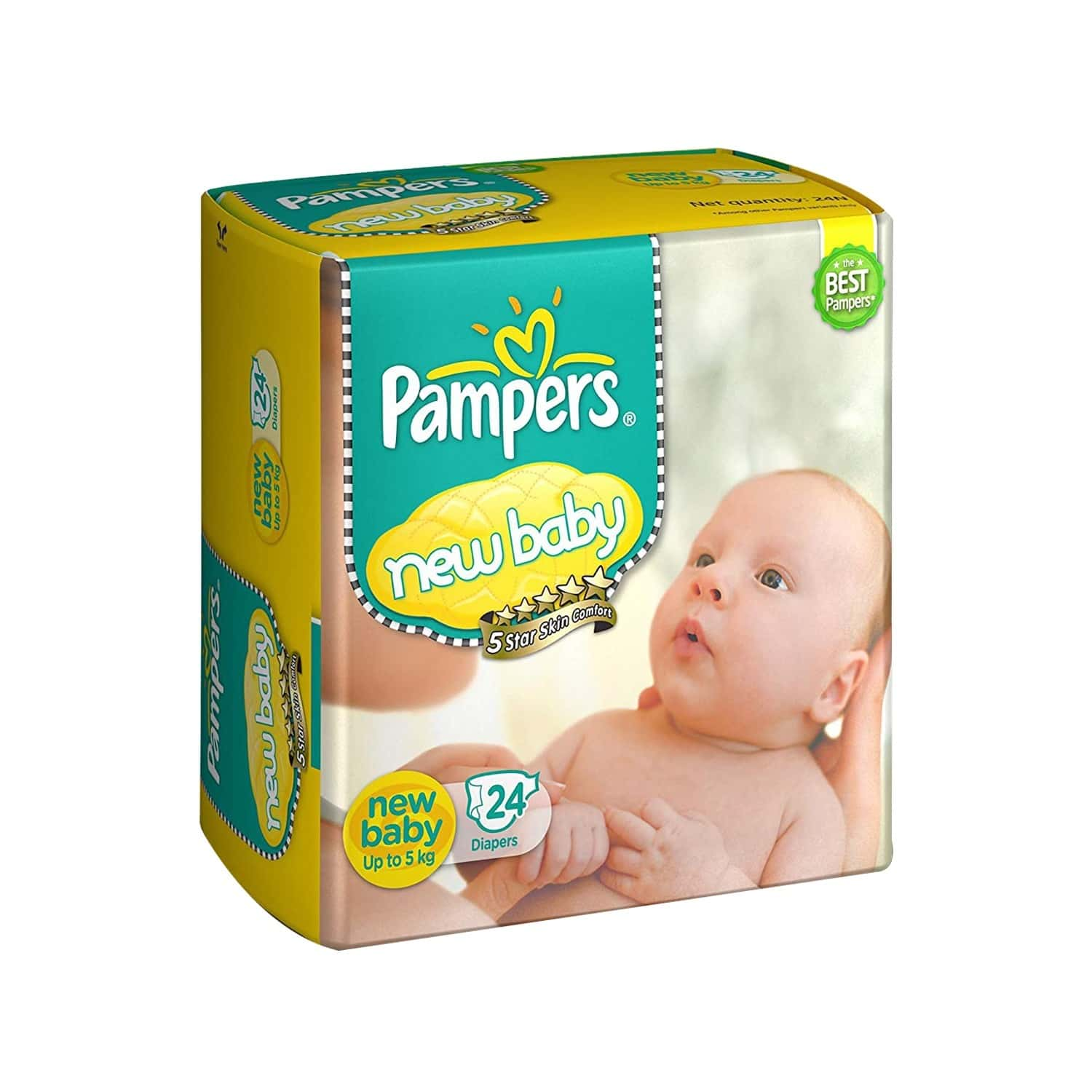 Pampers New Baby Diaper Size New Born Packet Of 24
