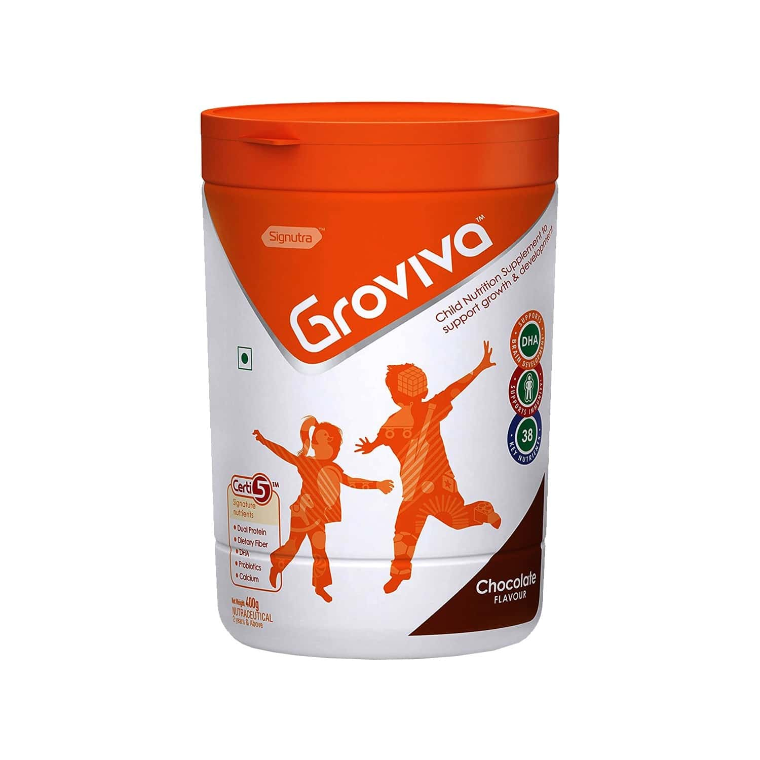 Groviva Chocolate Child Nutrition Supplement Jar Of 400 G