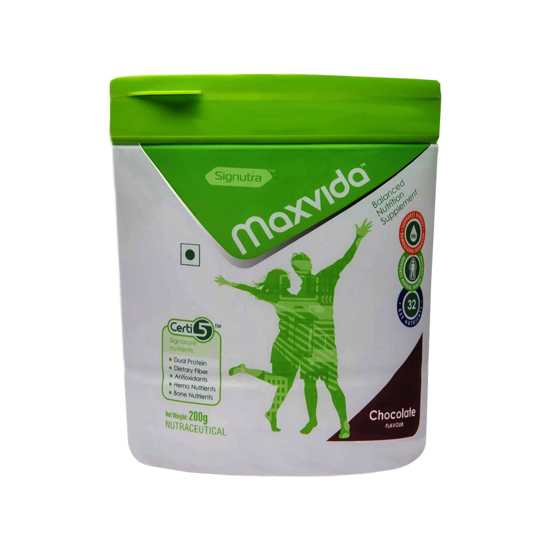 Maxvida Balanced Vanilla Nutrition Supplement Jar Of 200 G