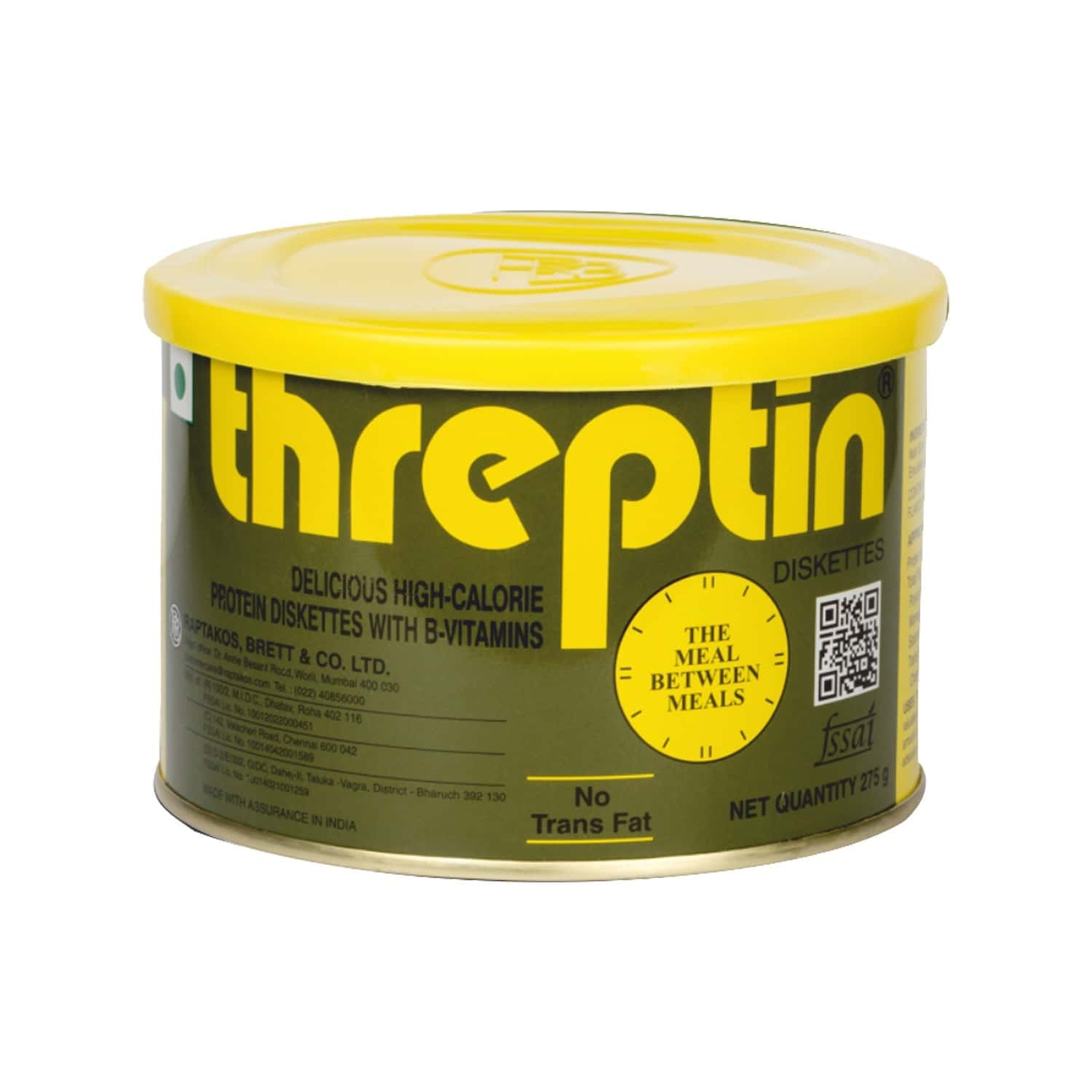 Threptin Vanilla Butterscotch Nutrition Diskettes Tin Of 275 G