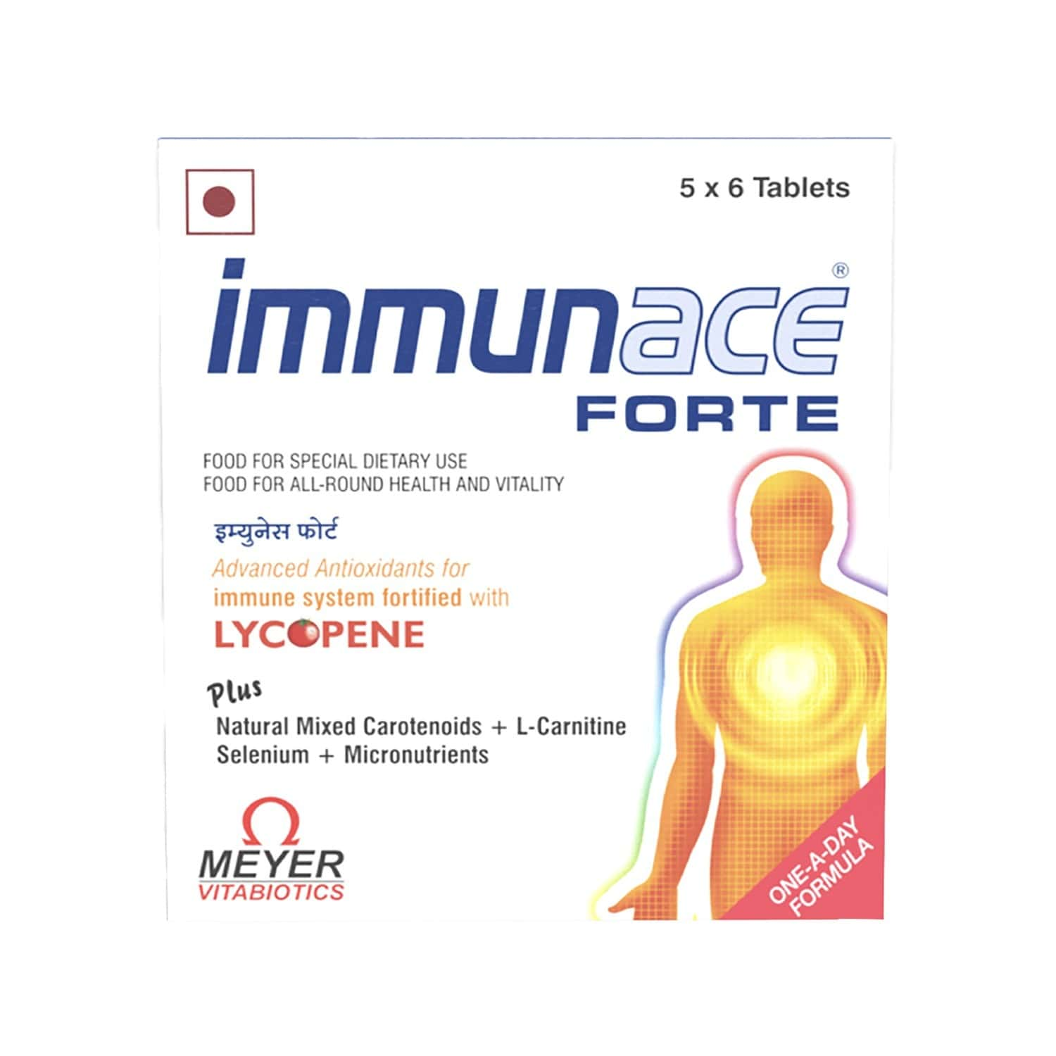 Immunace Forte Multivitamin Tablets (with Vitamin C, Zinc And Selemium) Box Of 30