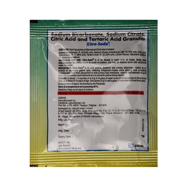 Citro Soda Sachet Of 5gm Granules