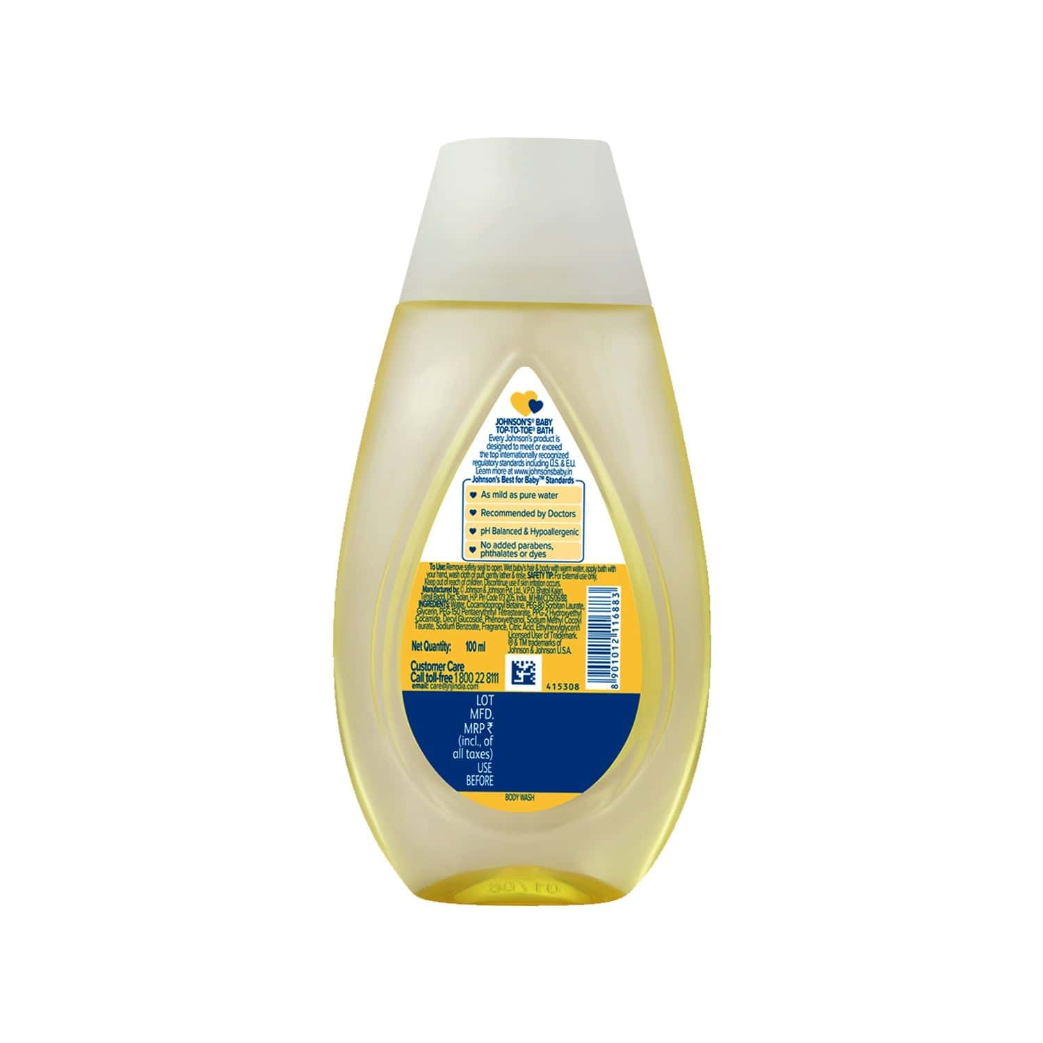 Johnson's Baby Top To Toe  Bath Wash  Bottle Of 100 Ml