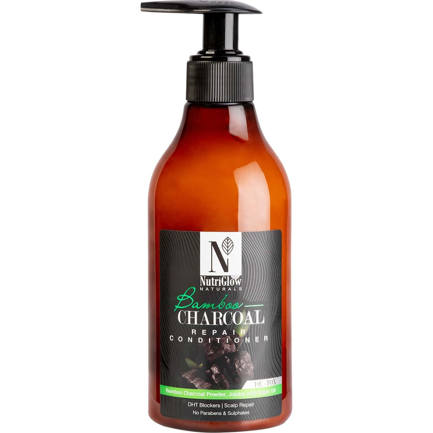 Nutriglow Natural's Bamboo Charcoal Conditioner /with Natural Source Ingredients/damaged Hair 300 Ml