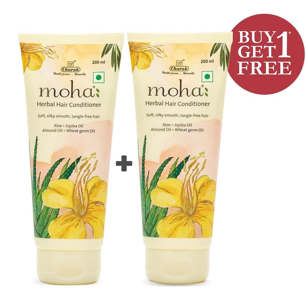 Moha Herbal Hair Conditioner Tube Of 400 Ml (buy 1 Get 1 Free)