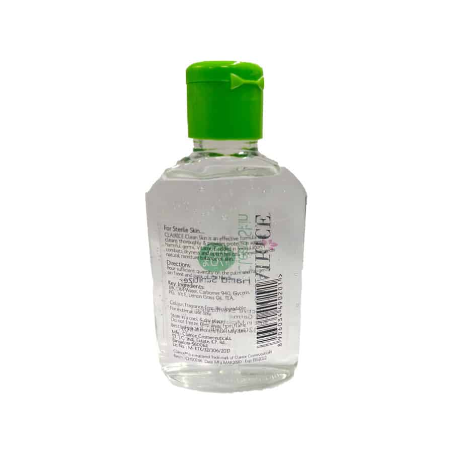Clairice Clean Skin Hand Sanitizer, 120 Ml - Pack Of 5