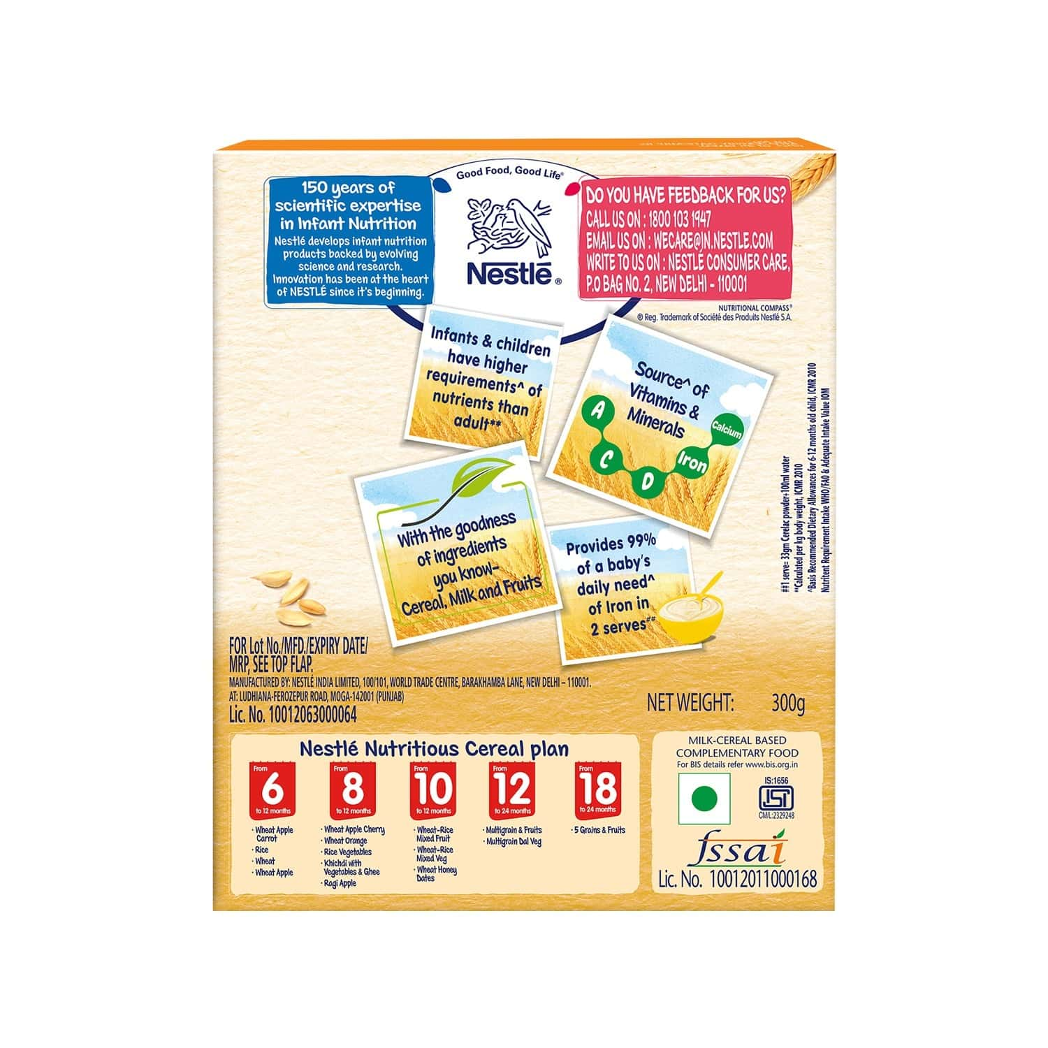 Nestle Cerelac Baby Cereal With Milk Wheat Honey Dates Baby Food (from 10 Months) Box Of 300 G