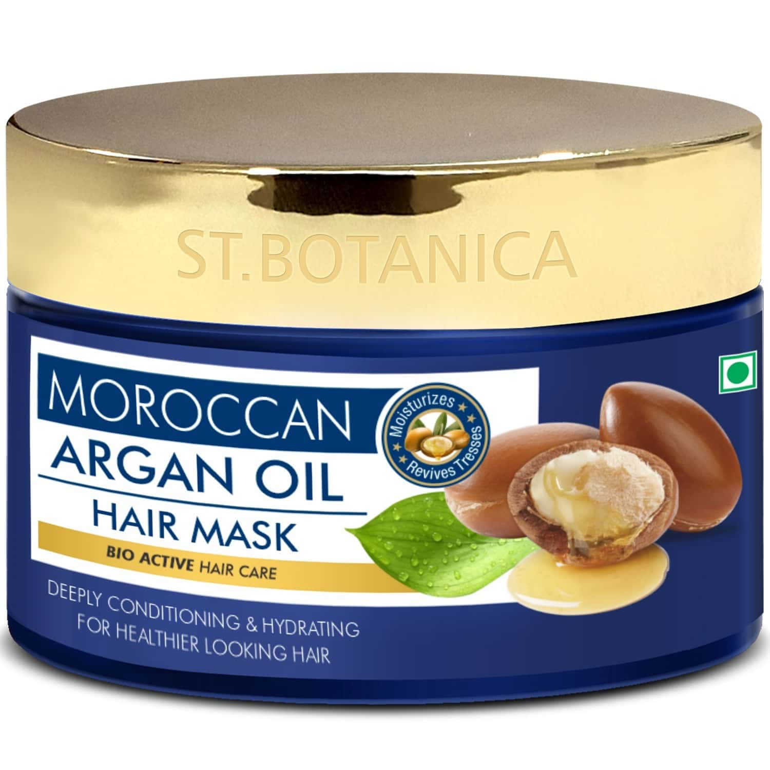 Stbotanica Moroccan Argan Hair Mask - Deep Conditioning & Hydration For Healthier Looking Hair - 200 Ml