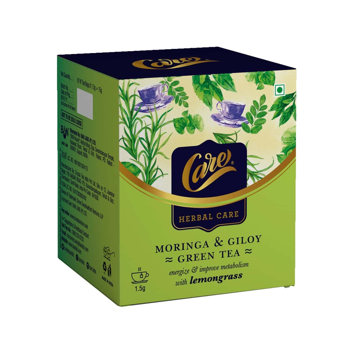 Care Moringa + Giloy With Lemongrass - 15g