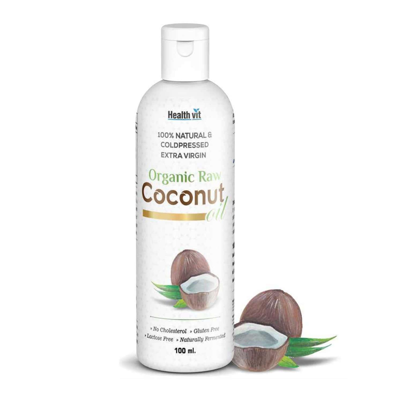 Healthvit 100% Natural & Cold Pressed Extra Virgin Organic Raw Coconut Oil -100 Ml