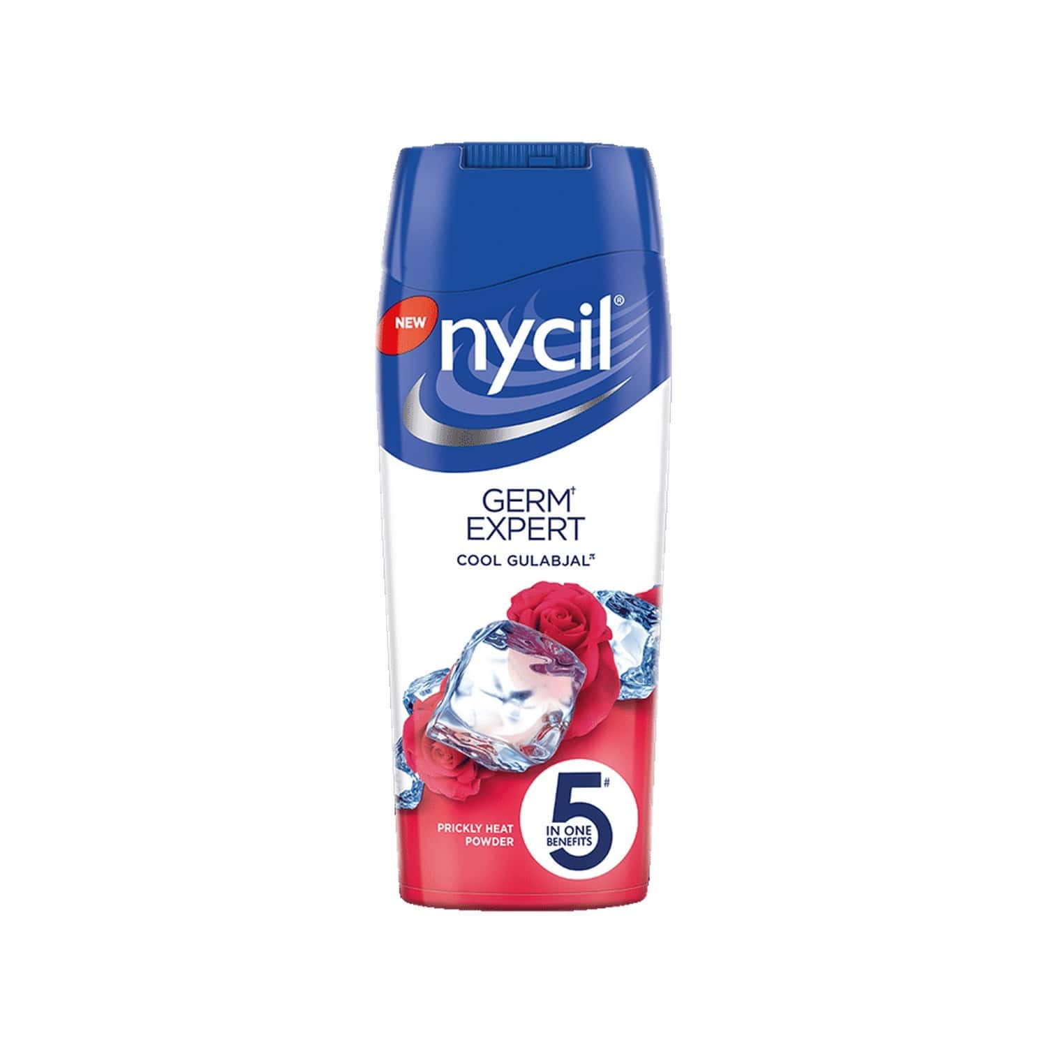 Nycil Cool Gulabjal Prickly Heat Powder Bottle Of 150 G (free Glucon-d Orange 100gm Worth Rs 41)