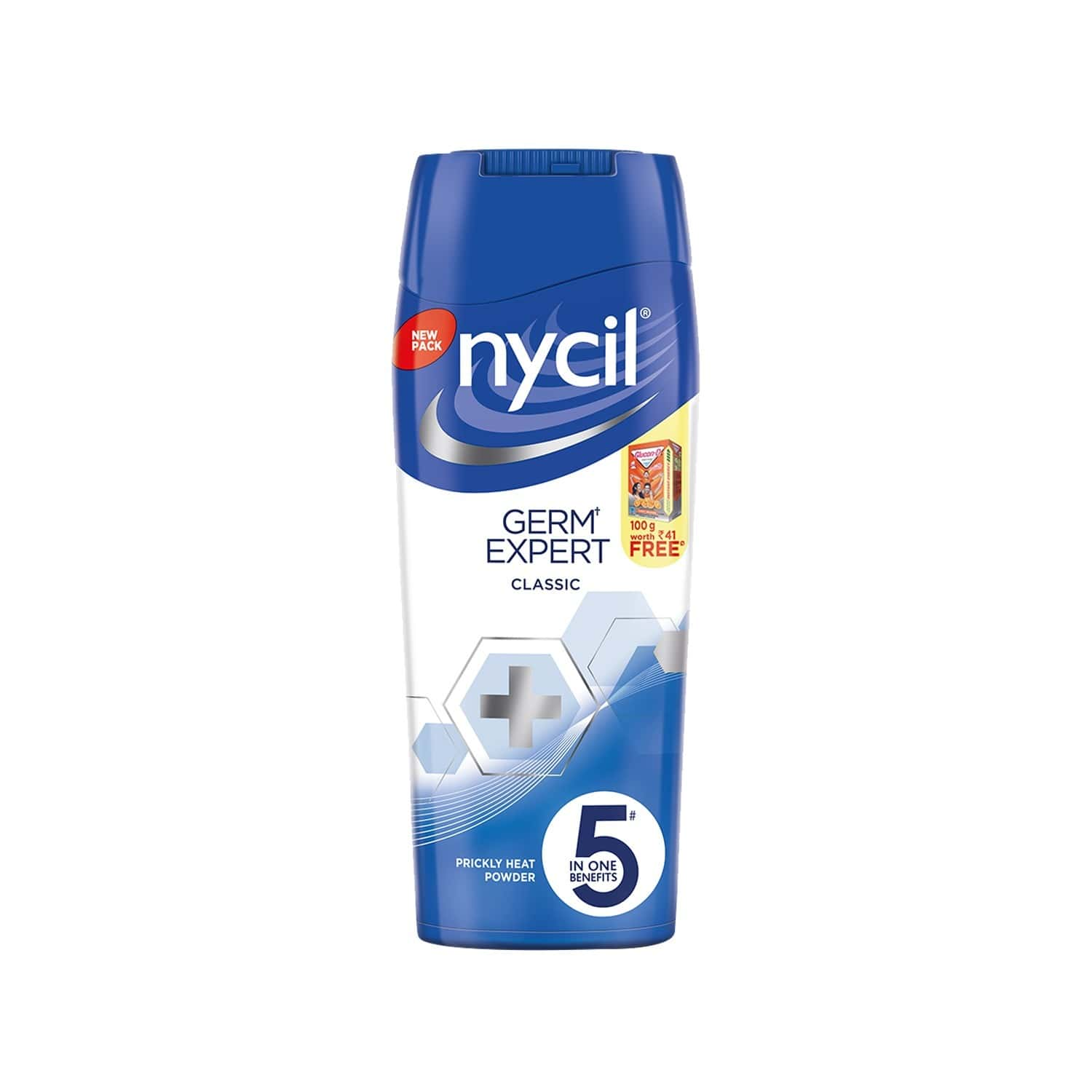 Nycil Classic Caring & Protection Prickly Heat Powder - 150gm (free Glucon-d Orange 100gm Worth Rs 41)