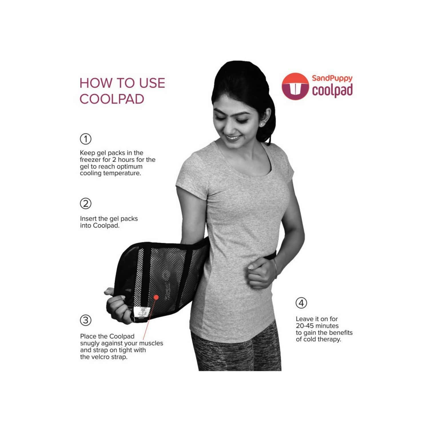 Sandpuppy Coolpad - Cool Pack/ice Gel Pack For First Aid Sports Injury Pain Relief Cold Therapy