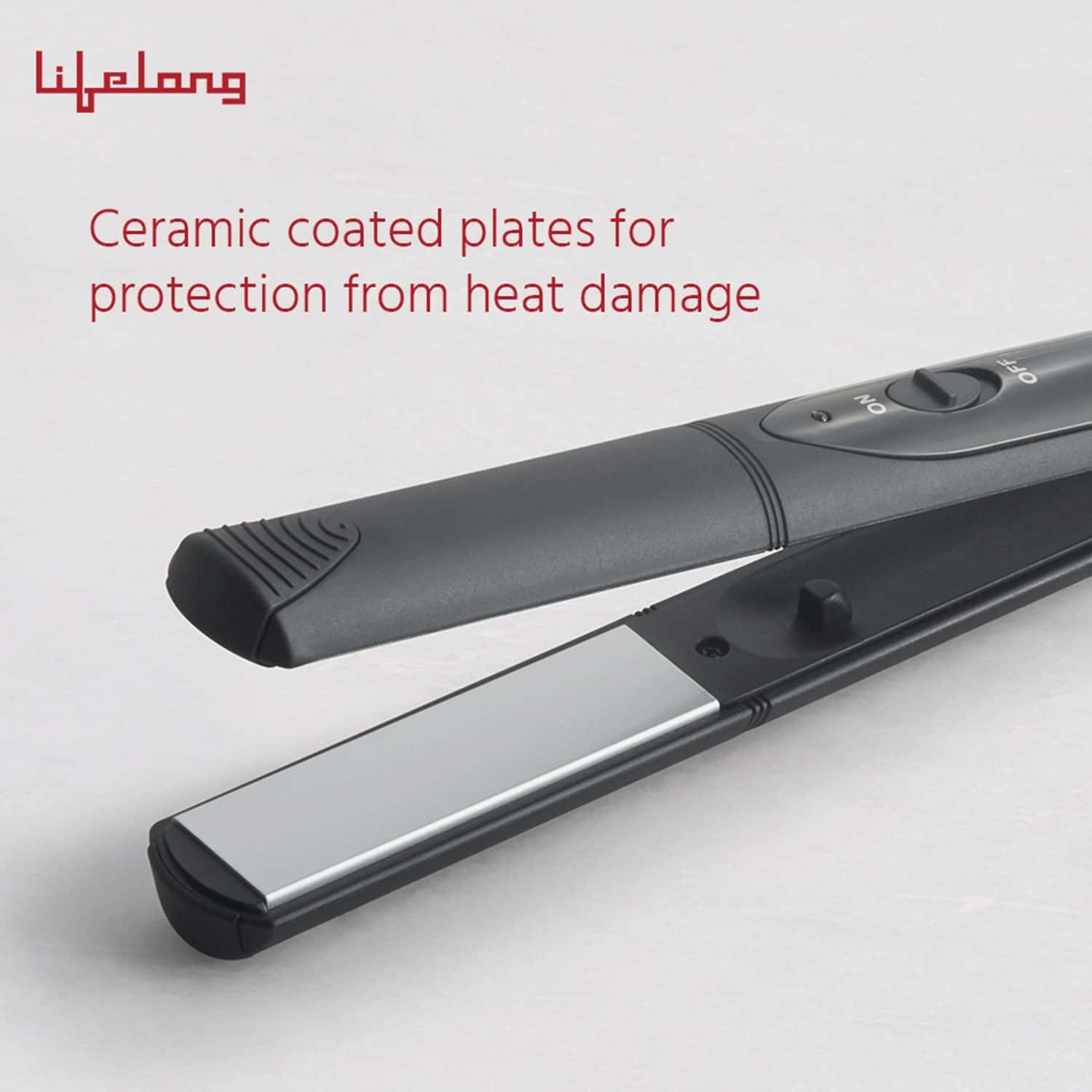 Lifelong Llpcw12 Professional Hair Straightener With Ceramic Plates And Quick Heating (black)