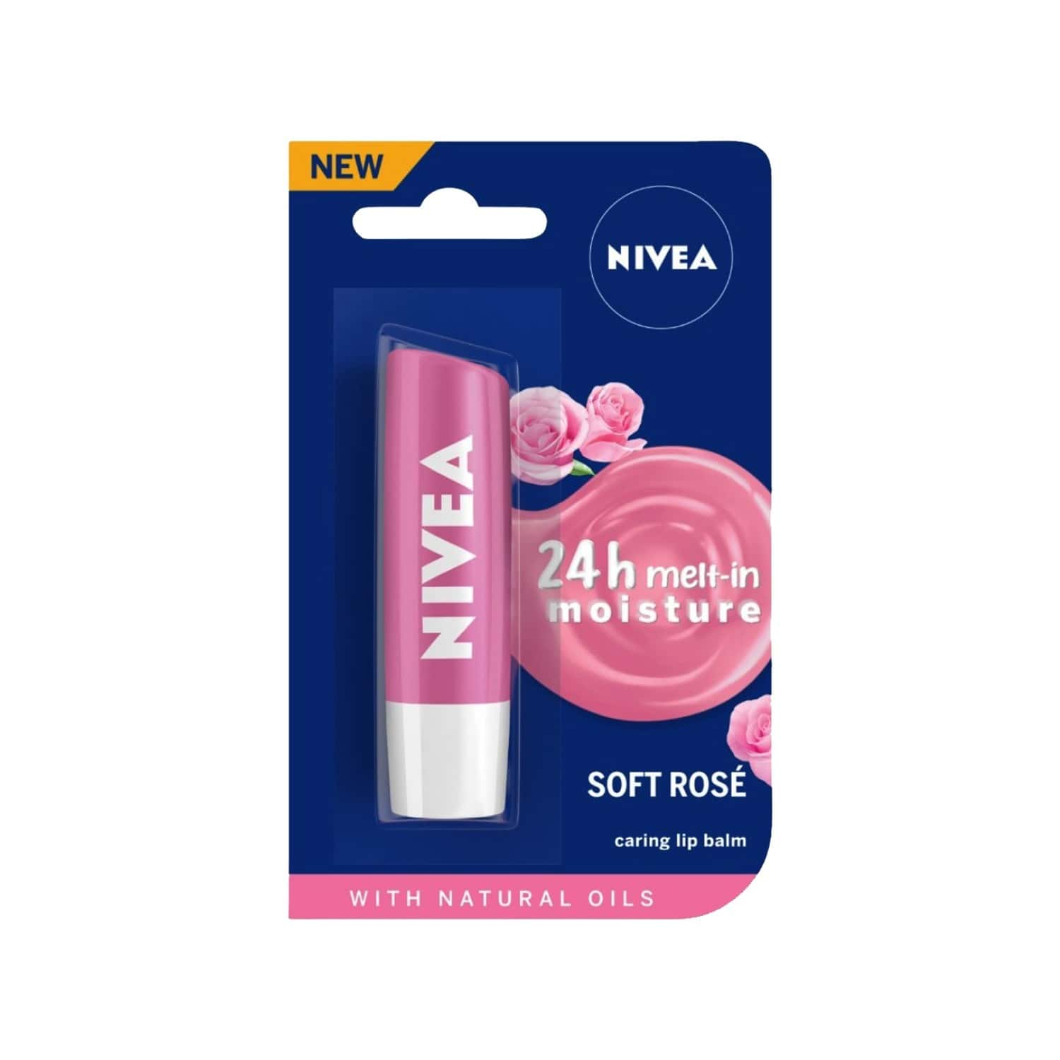 Nivea Lip Soft Rose - 4.8 Gm