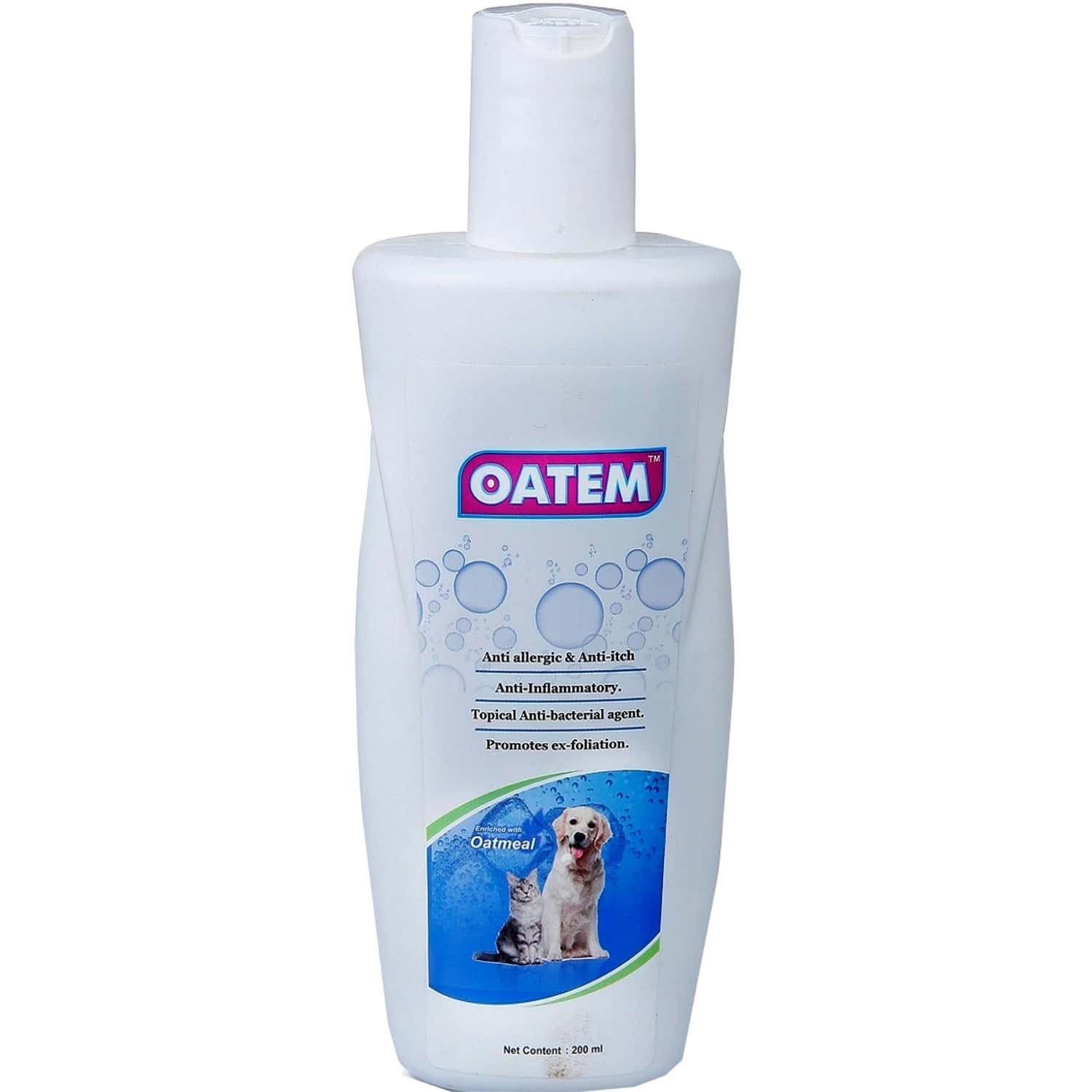 Oatem Shampoo With Oatmeal For Dog, Puppies And Cats 200 Ml