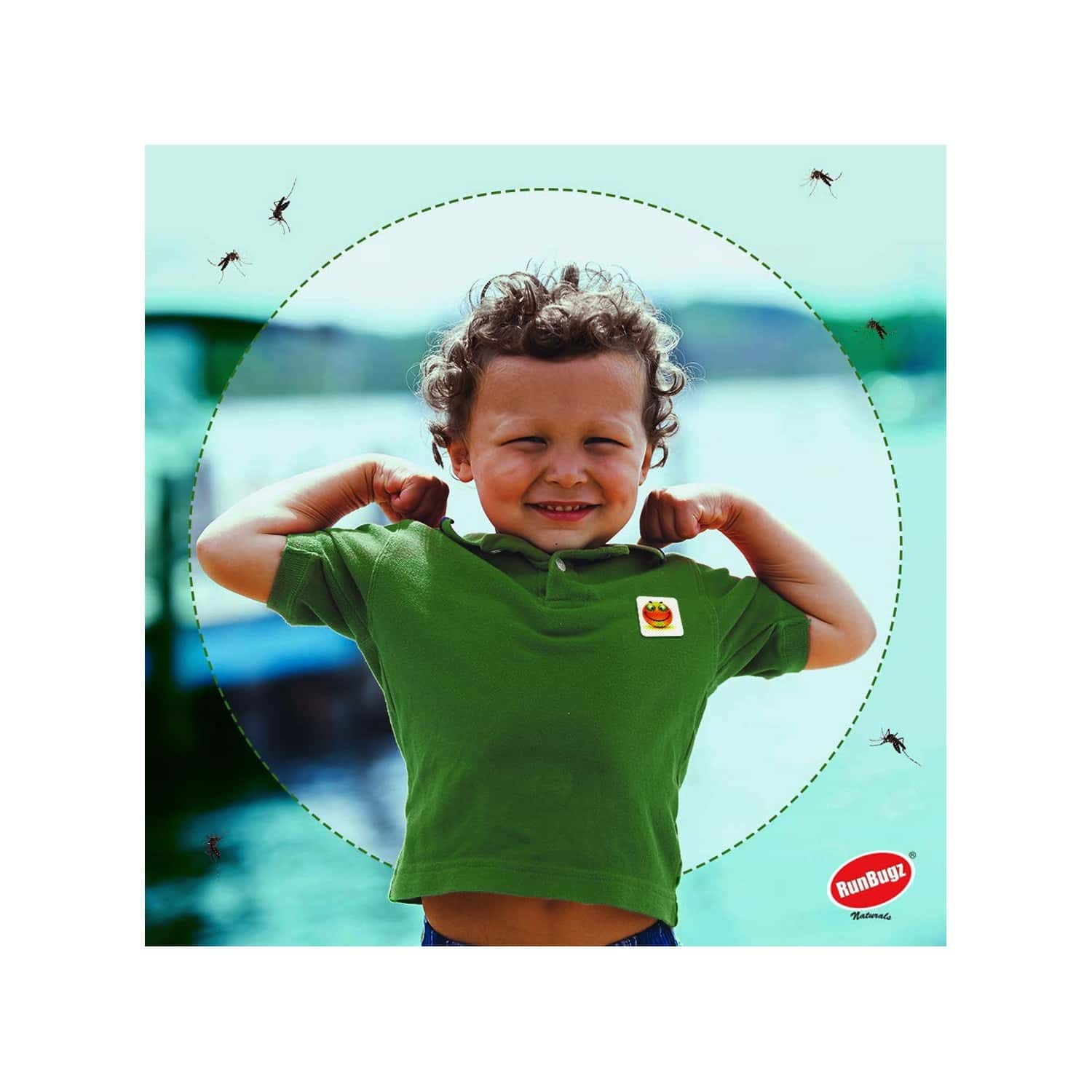 Runbugz Mosquito Repellent New Smiley Patches For Babies, 24 Patches