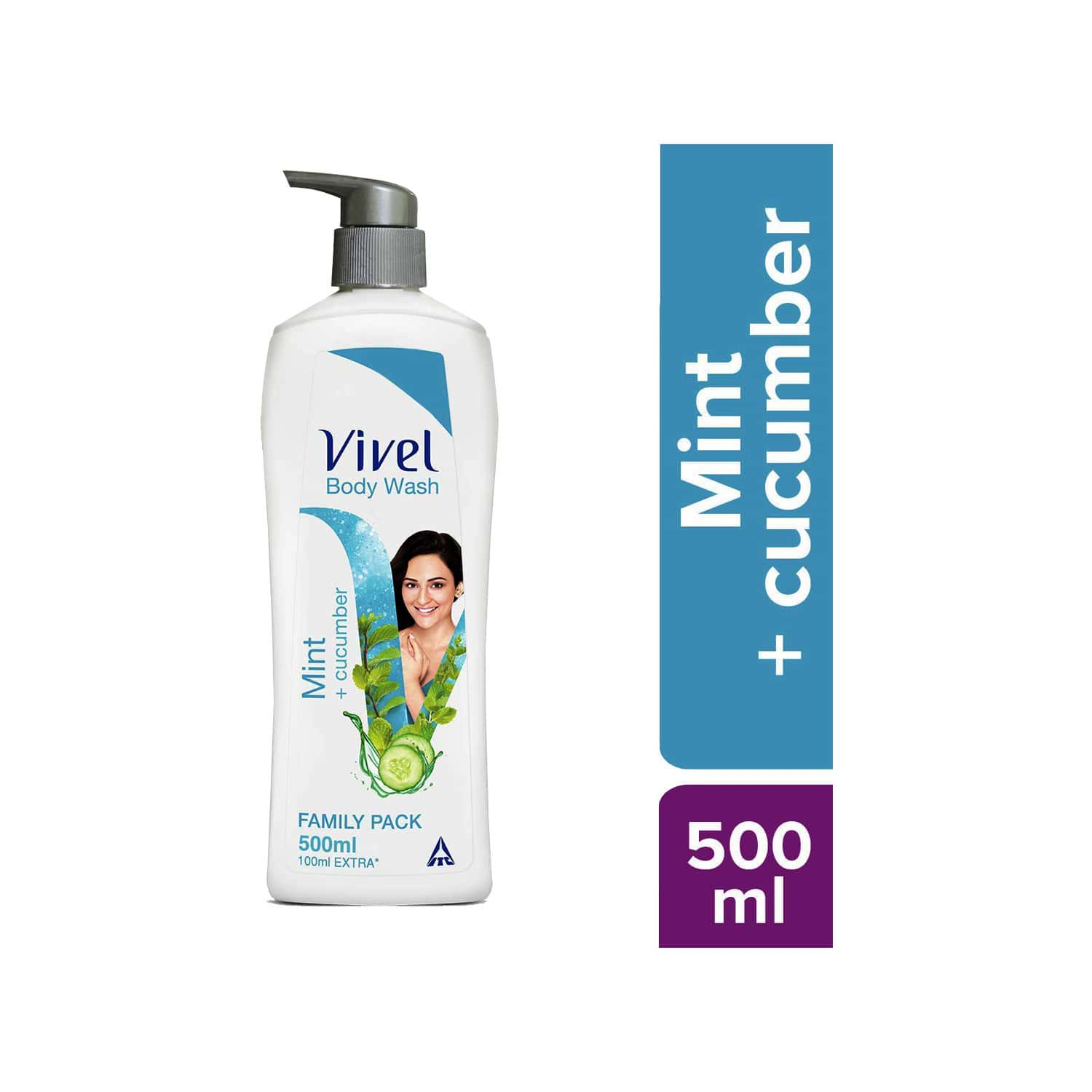 Vivel Mint And Cucumber Body Wash  Bottle Of 500 Ml