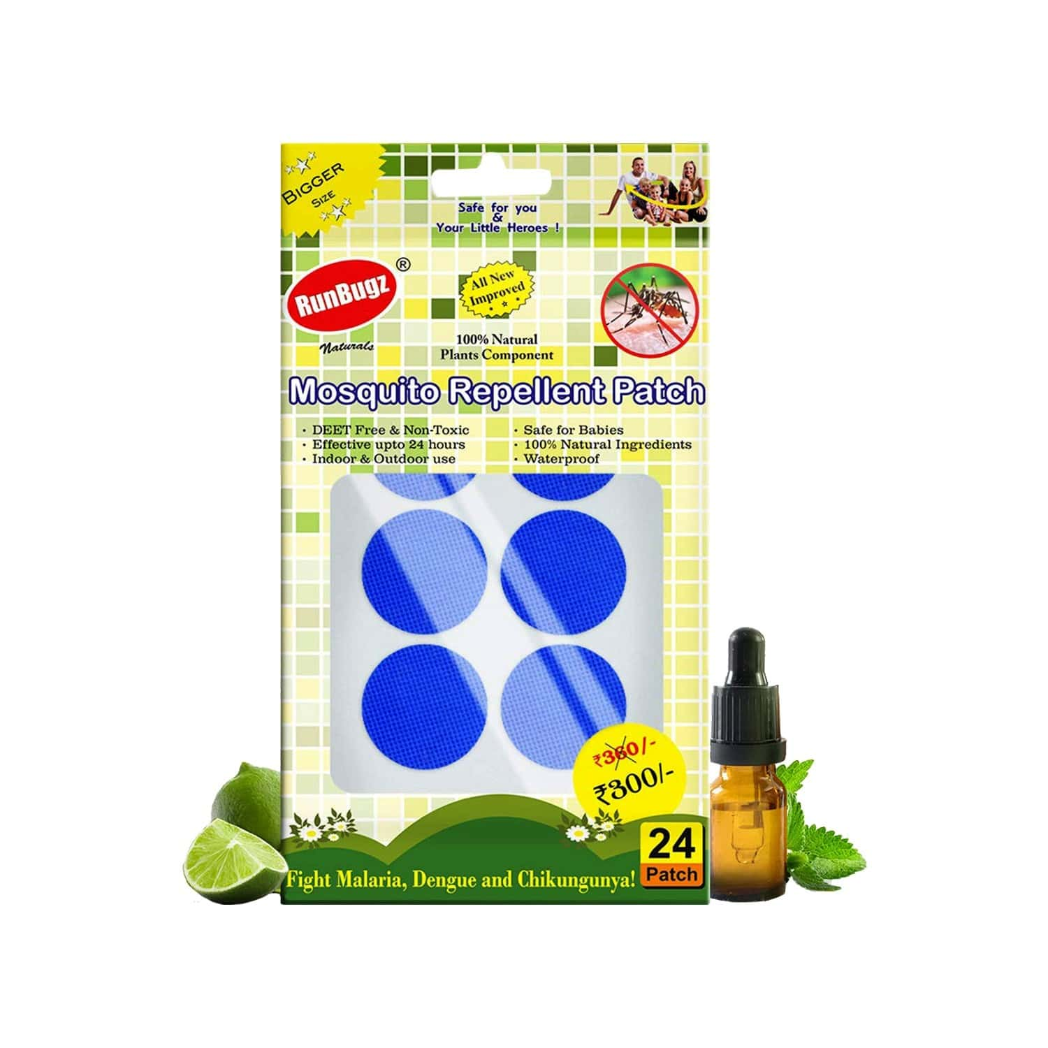 Mosquito Repellent Patches, Anti Mosquito Patch, 24 Patches - Blue