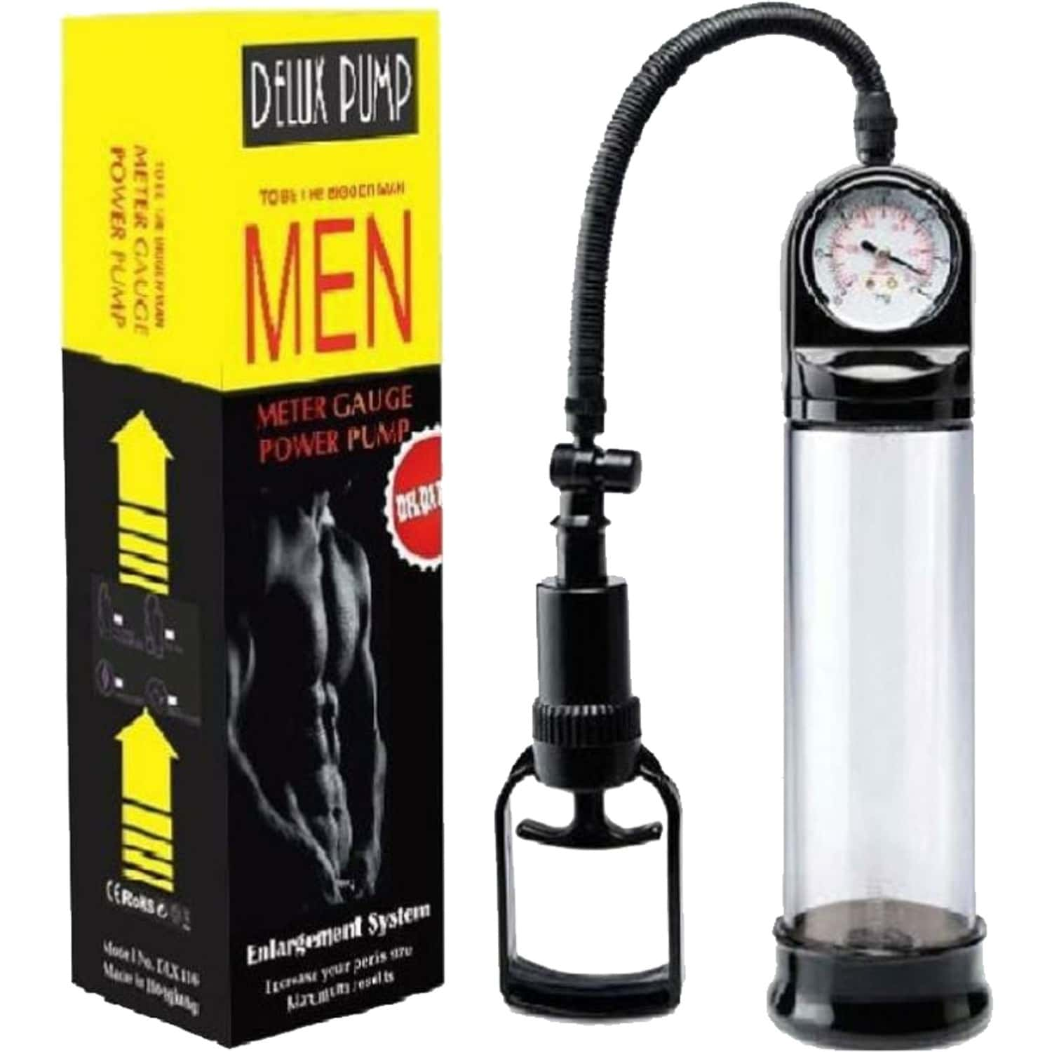 Delux Pumps With Meter Gauge - This Variant Has A Comfortable Handheld Pump With A Quick Release Valve For Comfort - Product For Men - 1 Unit