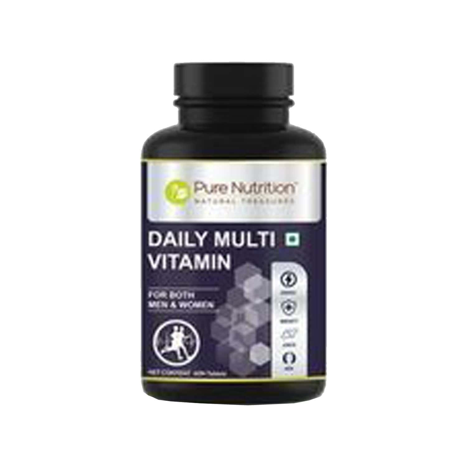 Pure Nutrition Daily Multivitamin - For Men & Women - With 6 Botanical Extracts & Essential Minerals For Immunity - Energy & Skin Health - 60 Tablets