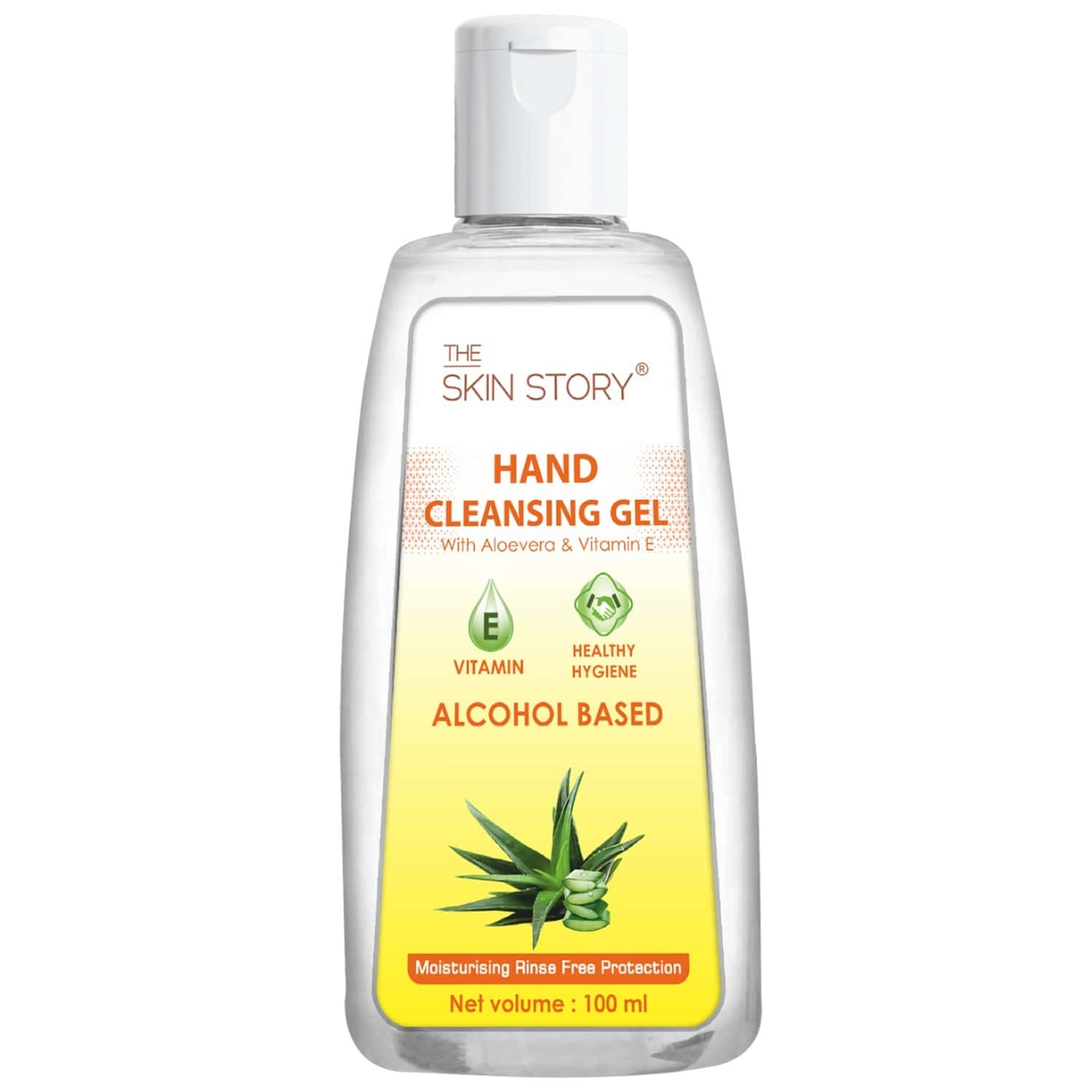 The Skin Story Hand Cleansing Gel ( Sanitizer), 70 % Alcohol - 100ml (pack Of 5)